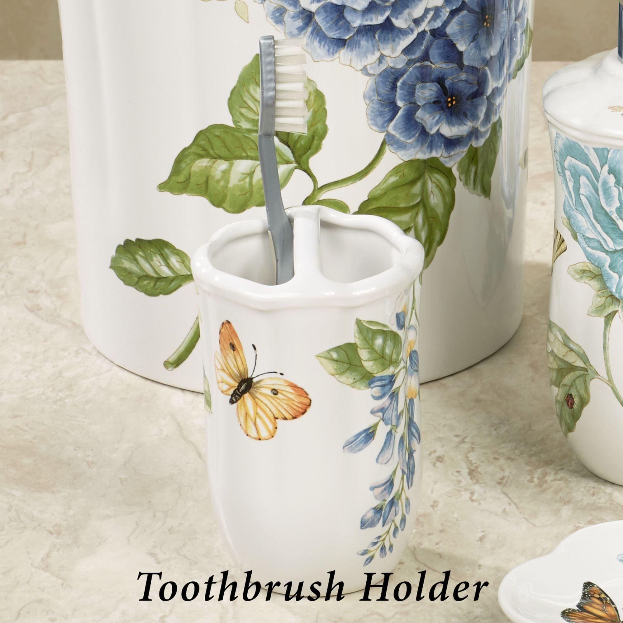 Lenox blue floral garden porcelain bath accessories lenox blue floral garden toothbrush holder reviewsmspy