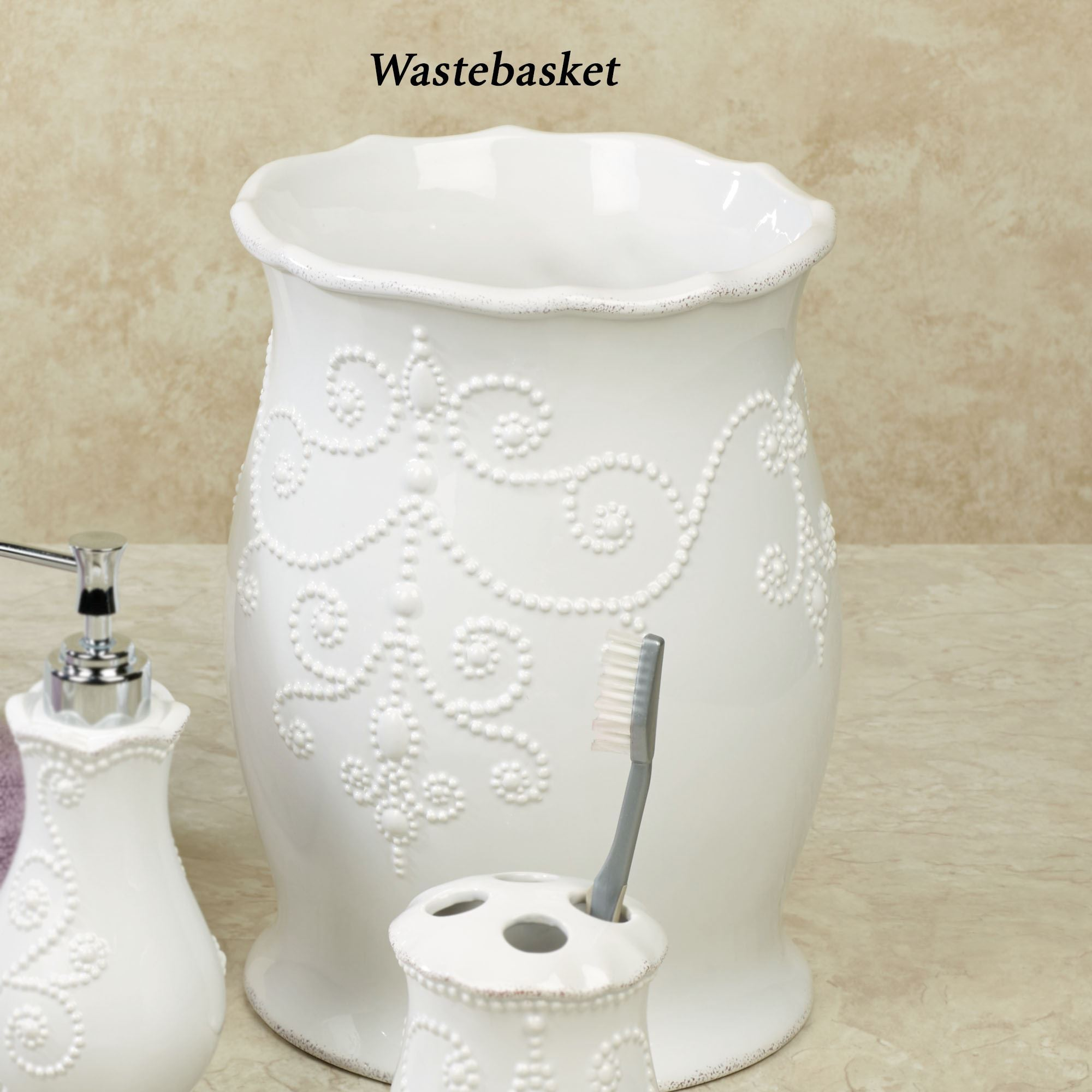 Lenox French Perle White Bath Accessories