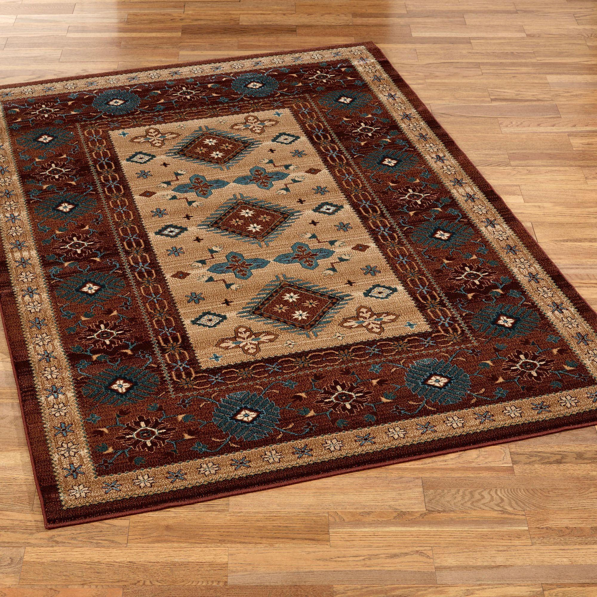 Bennington Rectangle Rug Multi Warm
