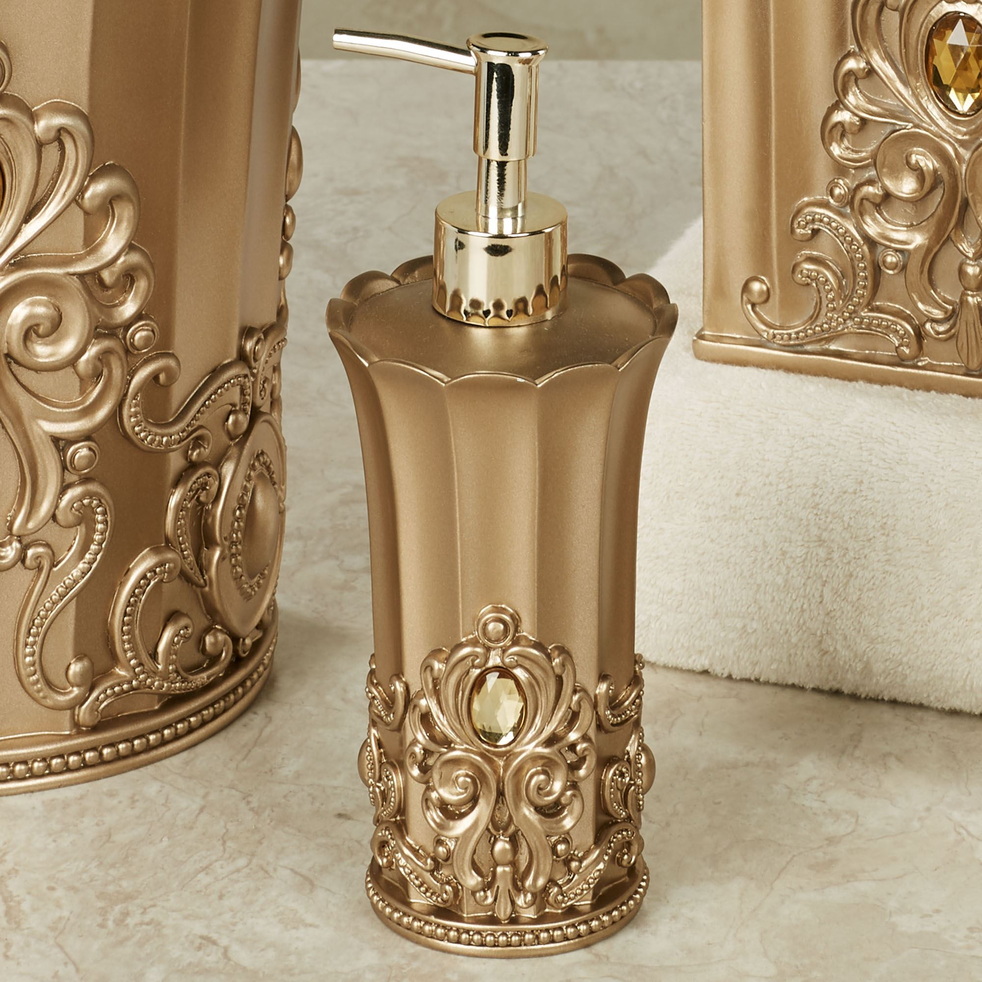 Opulence Lotion Soap Dispenser Champagne Gold