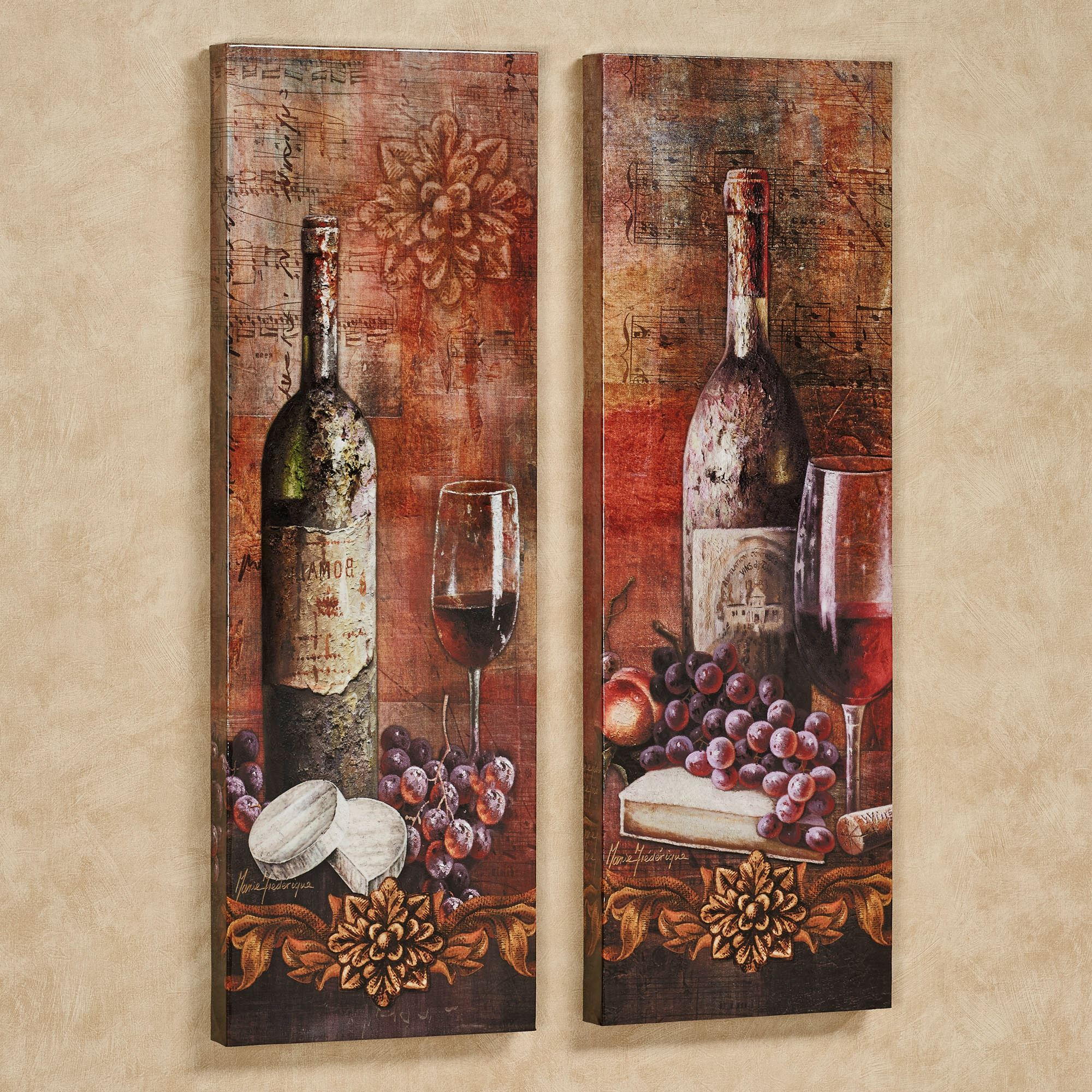 Grapes Of Toscana Canvas Wall Art Set