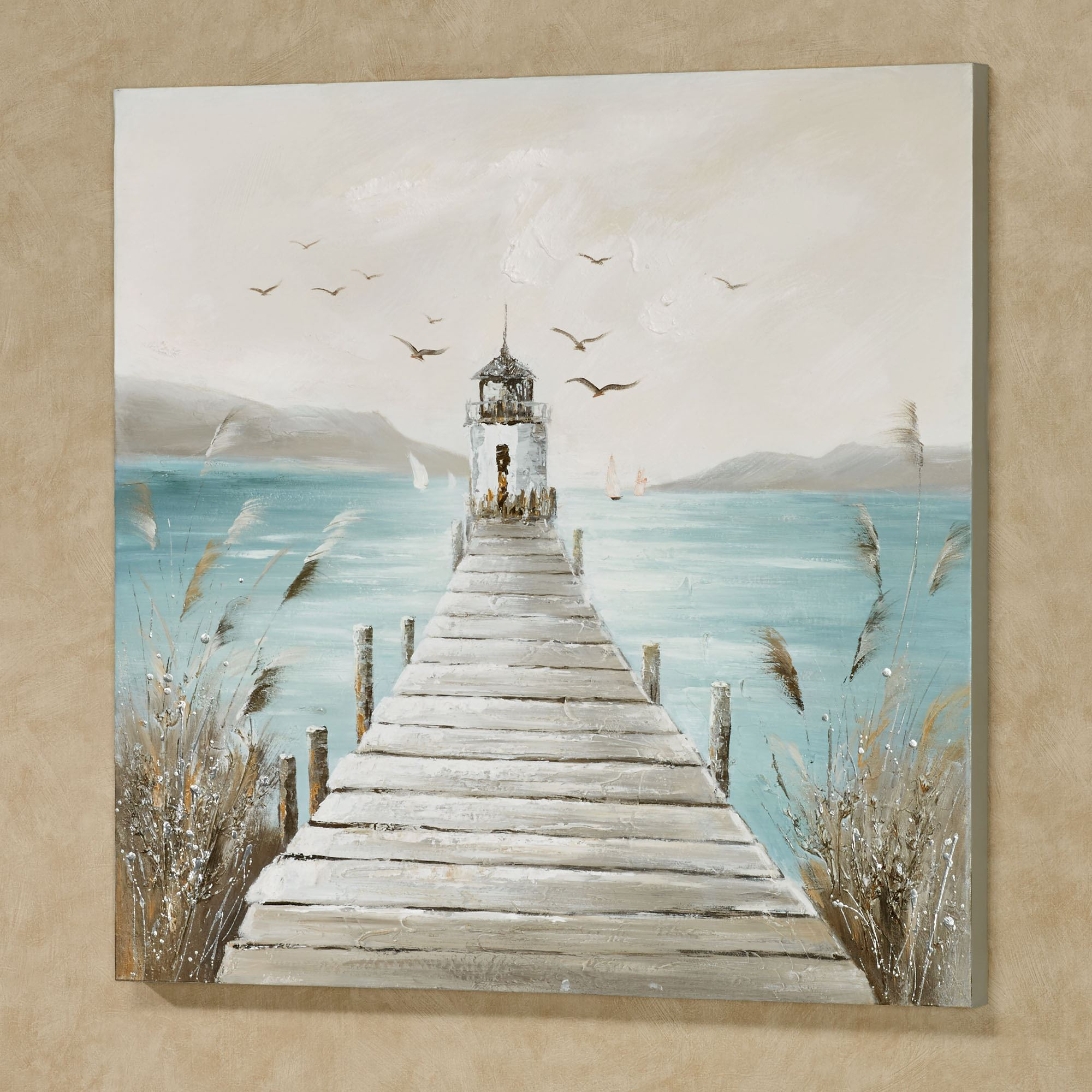 A Day At The Cape Lighthouse Canvas Wall Art