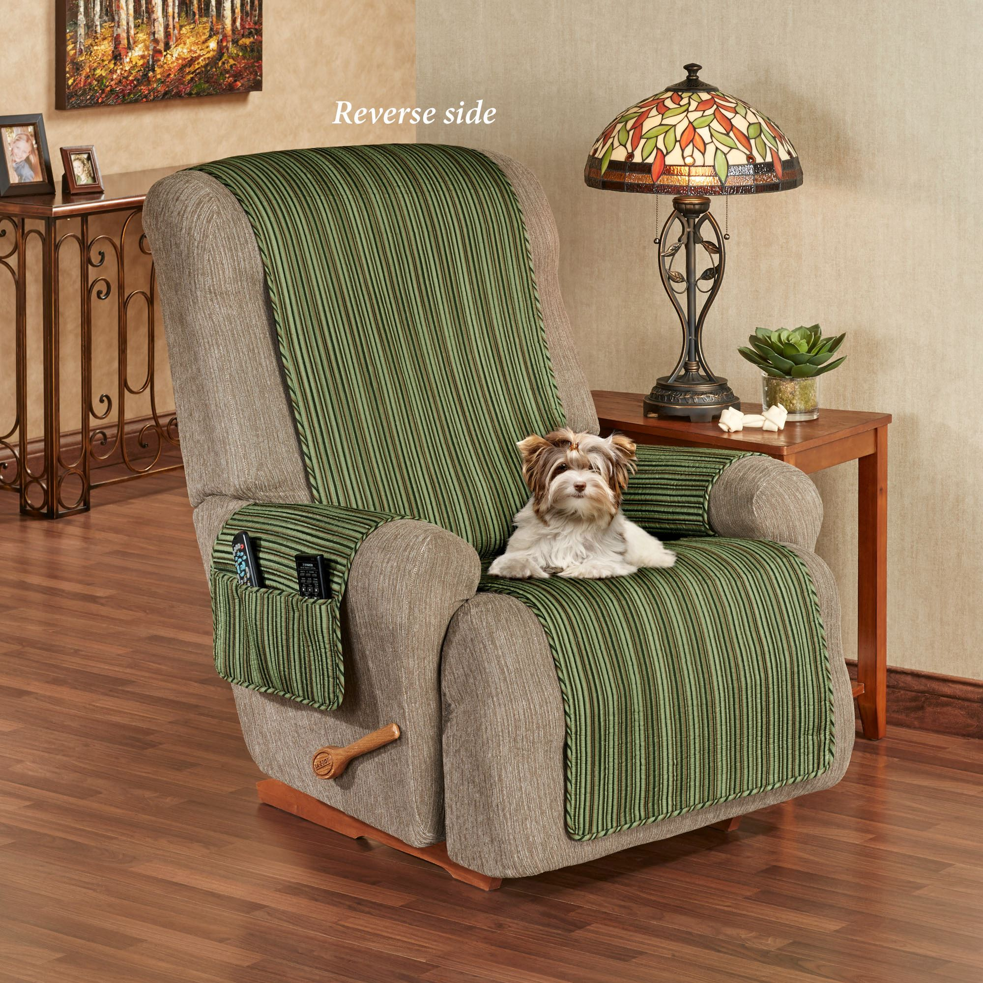 Furniture Websites With Free Shipping: Riverpark Reversible Striped Furniture Covers