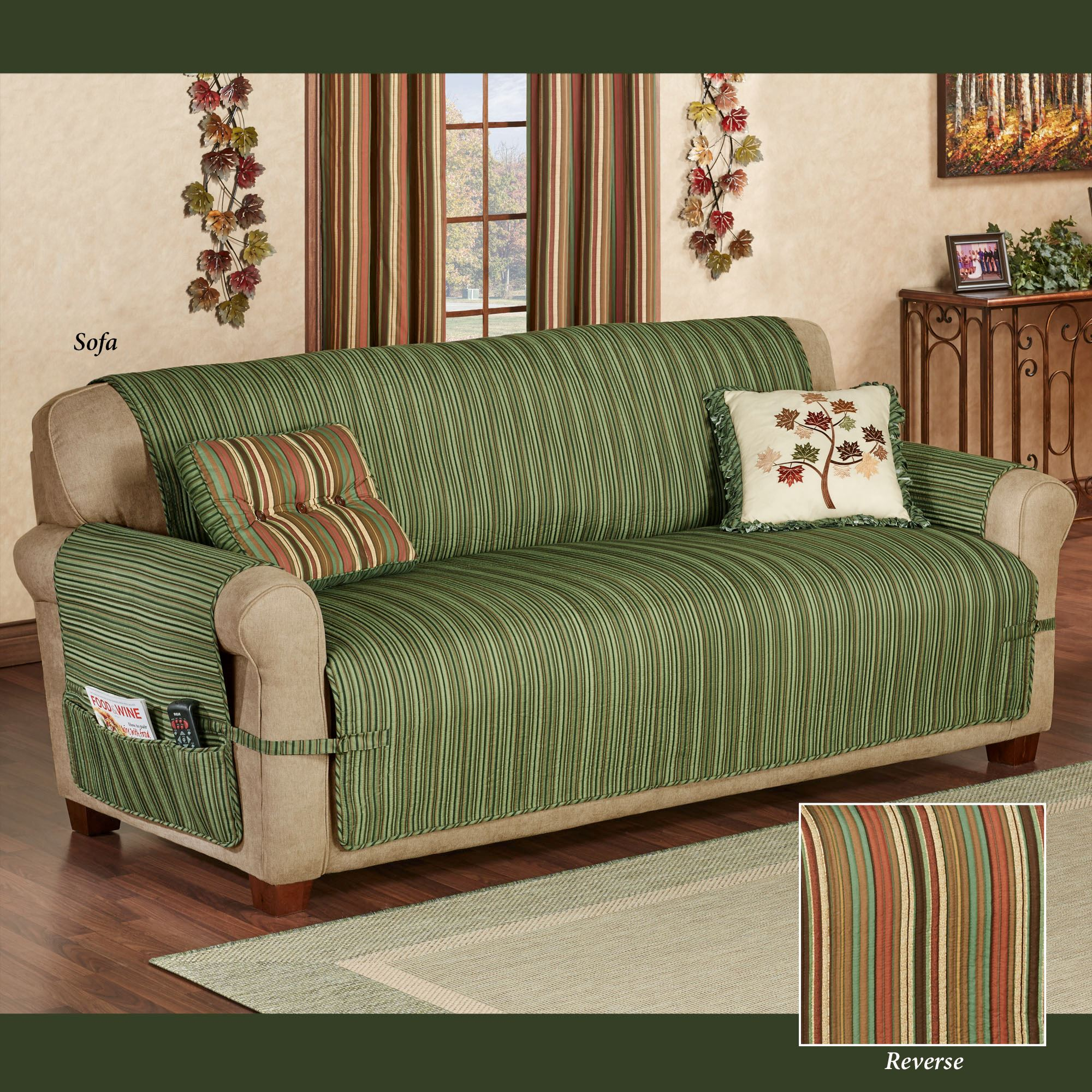 Fine Riverpark Reversible Striped Furniture Covers Andrewgaddart Wooden Chair Designs For Living Room Andrewgaddartcom