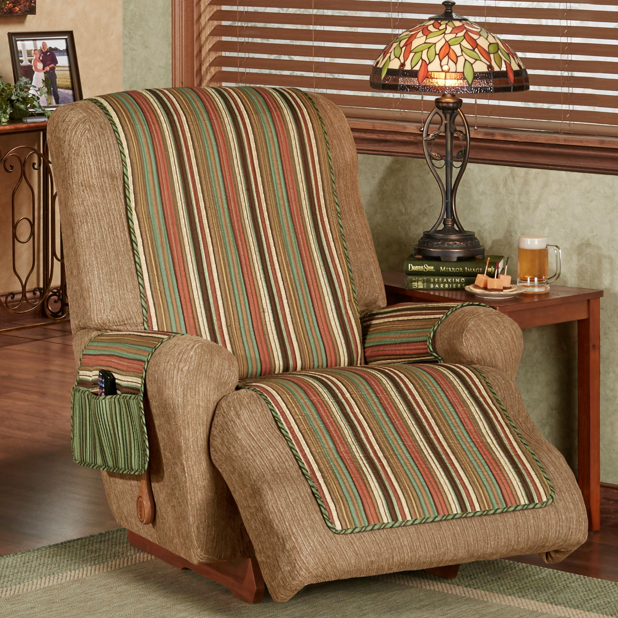 Riverpark Reversible Striped Furniture Covers
