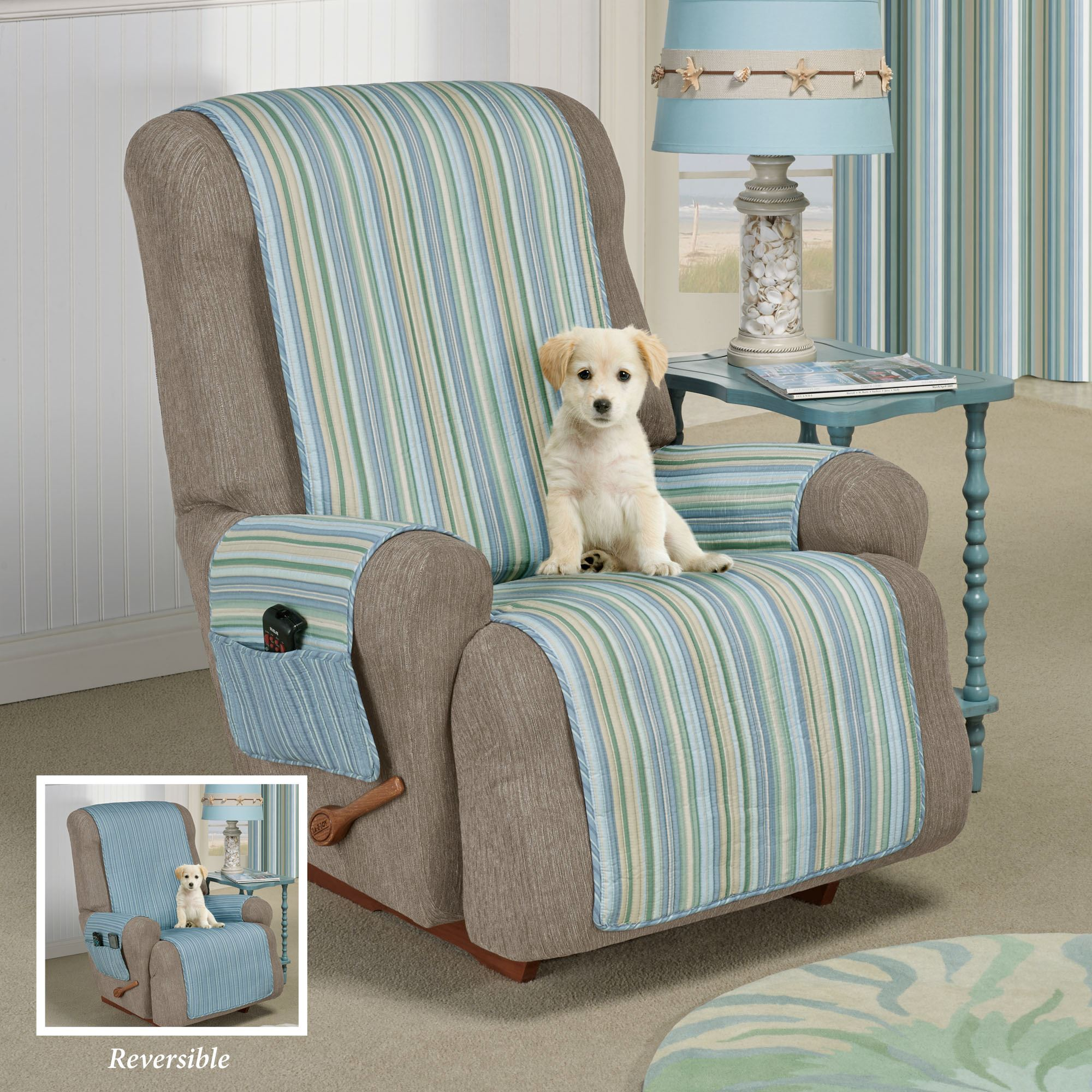Delightful Clearwater Furniture Cover Multi Cool Recliner/Wing Chair