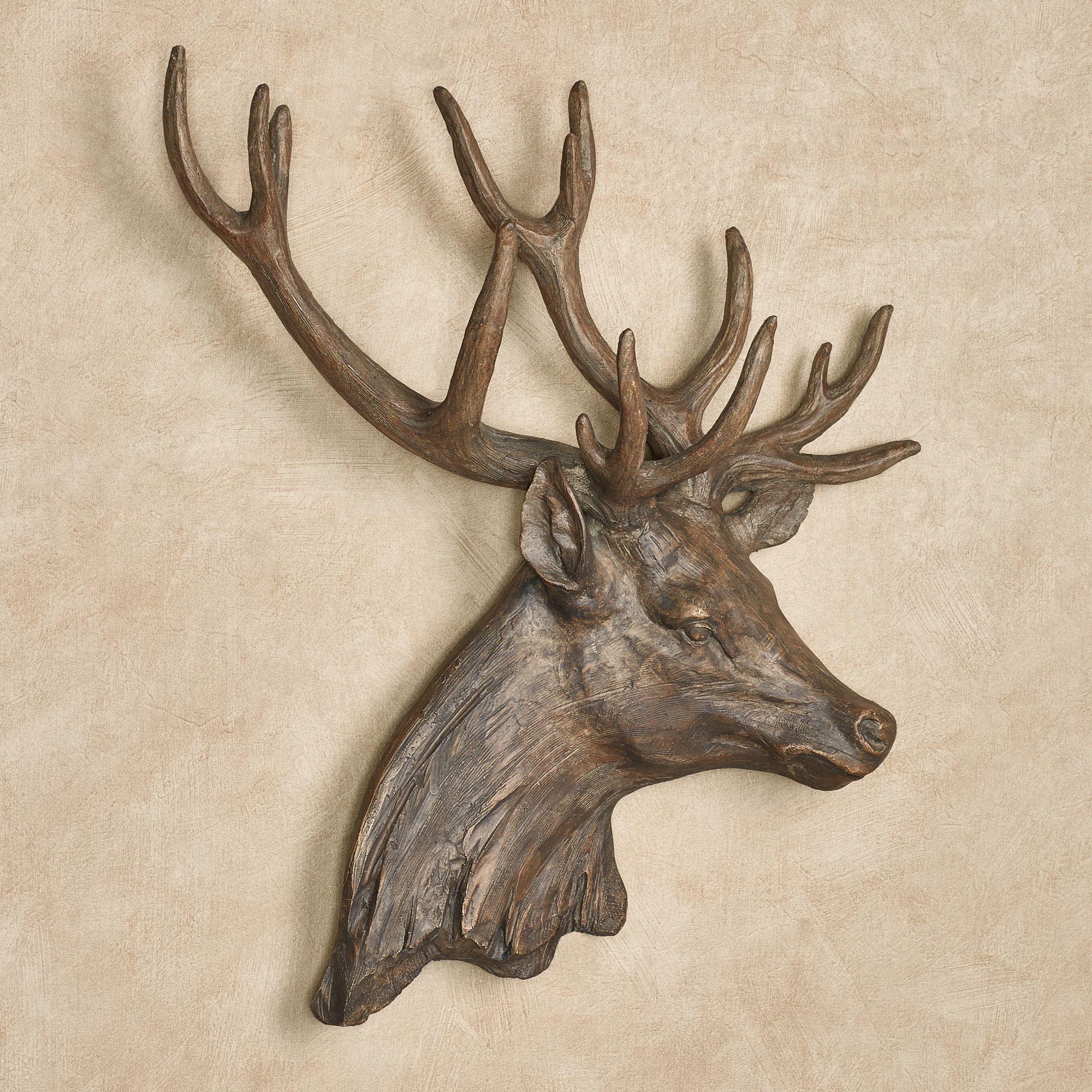 incredible Deer Head Wall Art Part - 16: Deer Head Stag Wall Art Brown. Touch to zoom