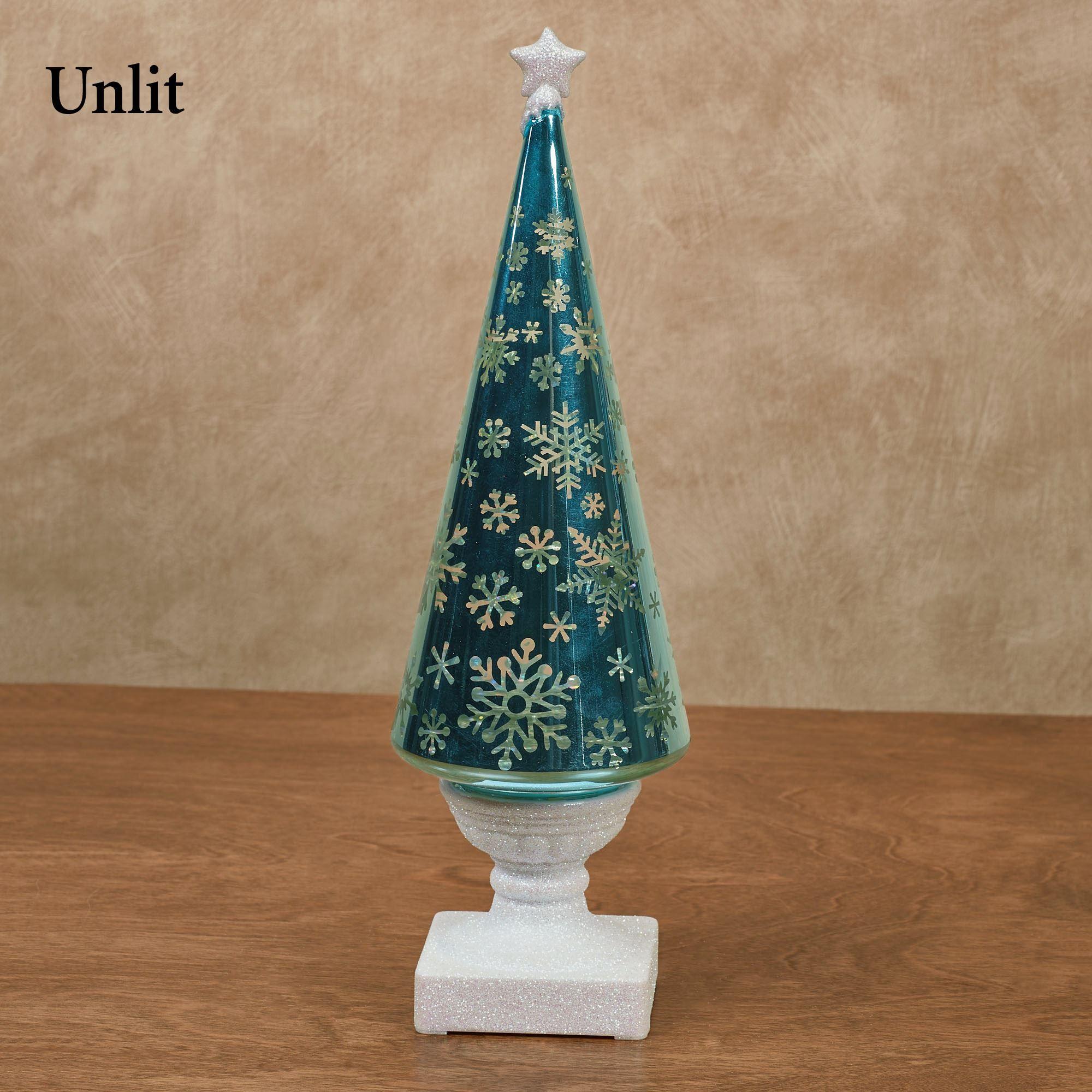 snowflake swirl led christmas tree figurine multi cool - Aqua Christmas Tree