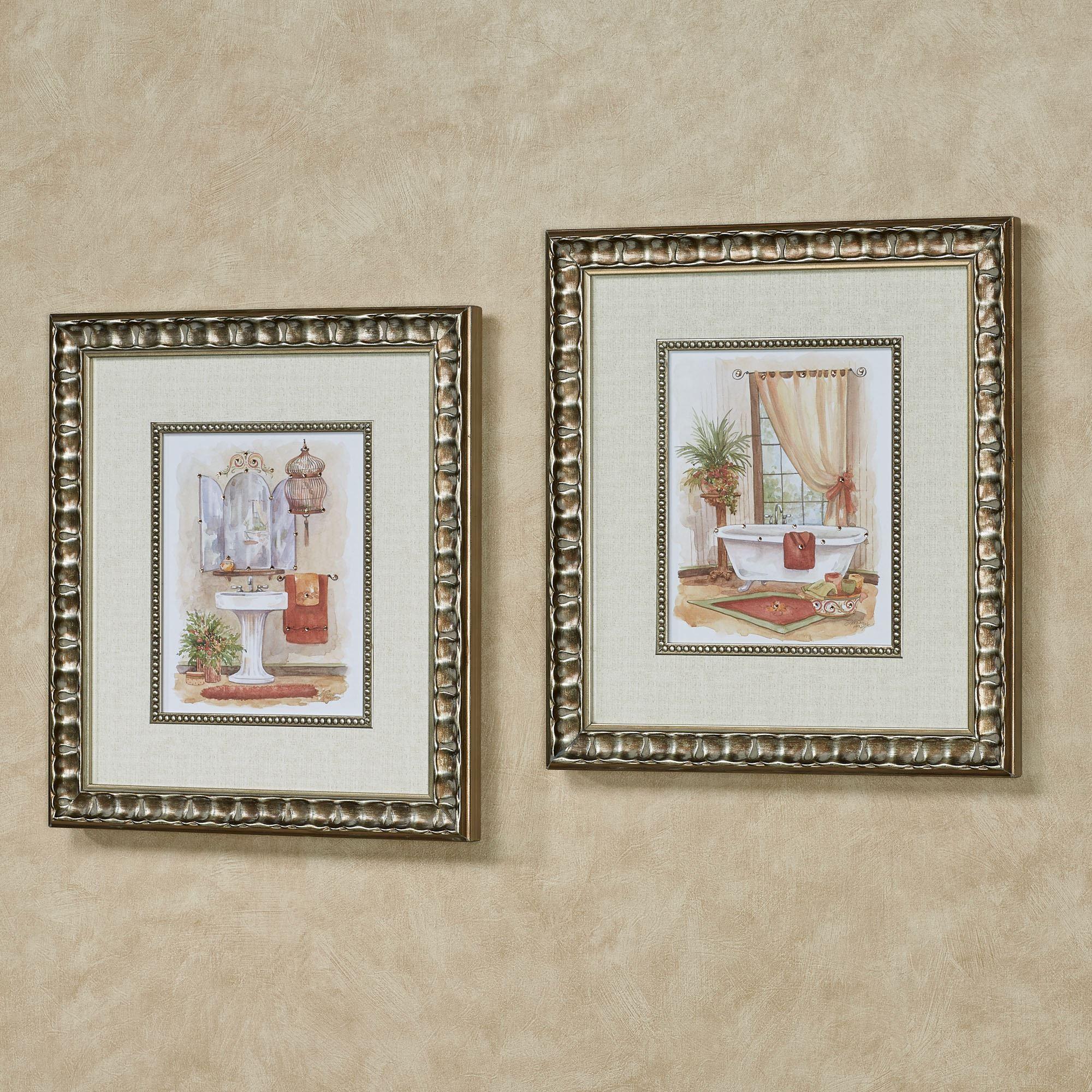 Watercolor Bath In Spice Framed Wall Art