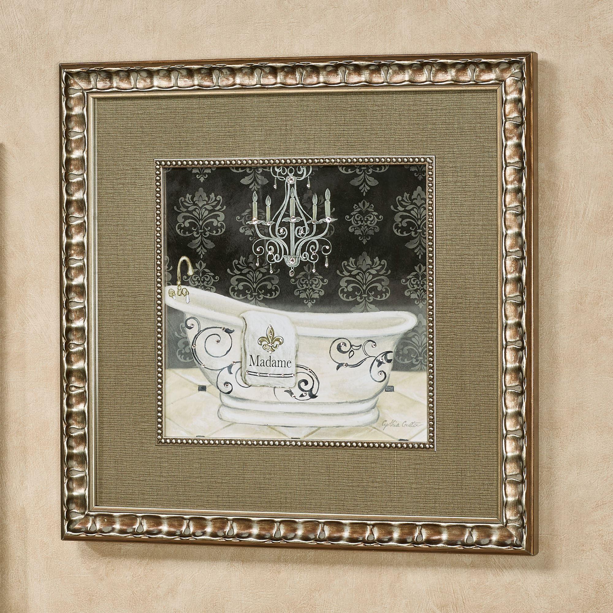 Madame Tub I Framed Wall Art Multi Warm