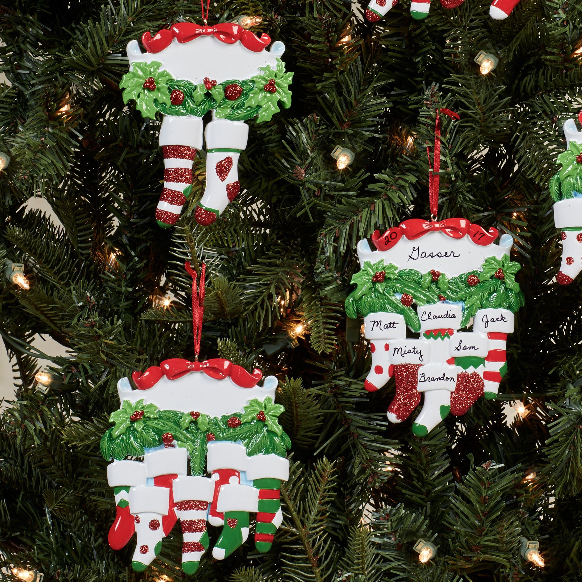 Personalized Christmas Ornament.Holly Adler Stocking Family Personalized Christmas Ornament