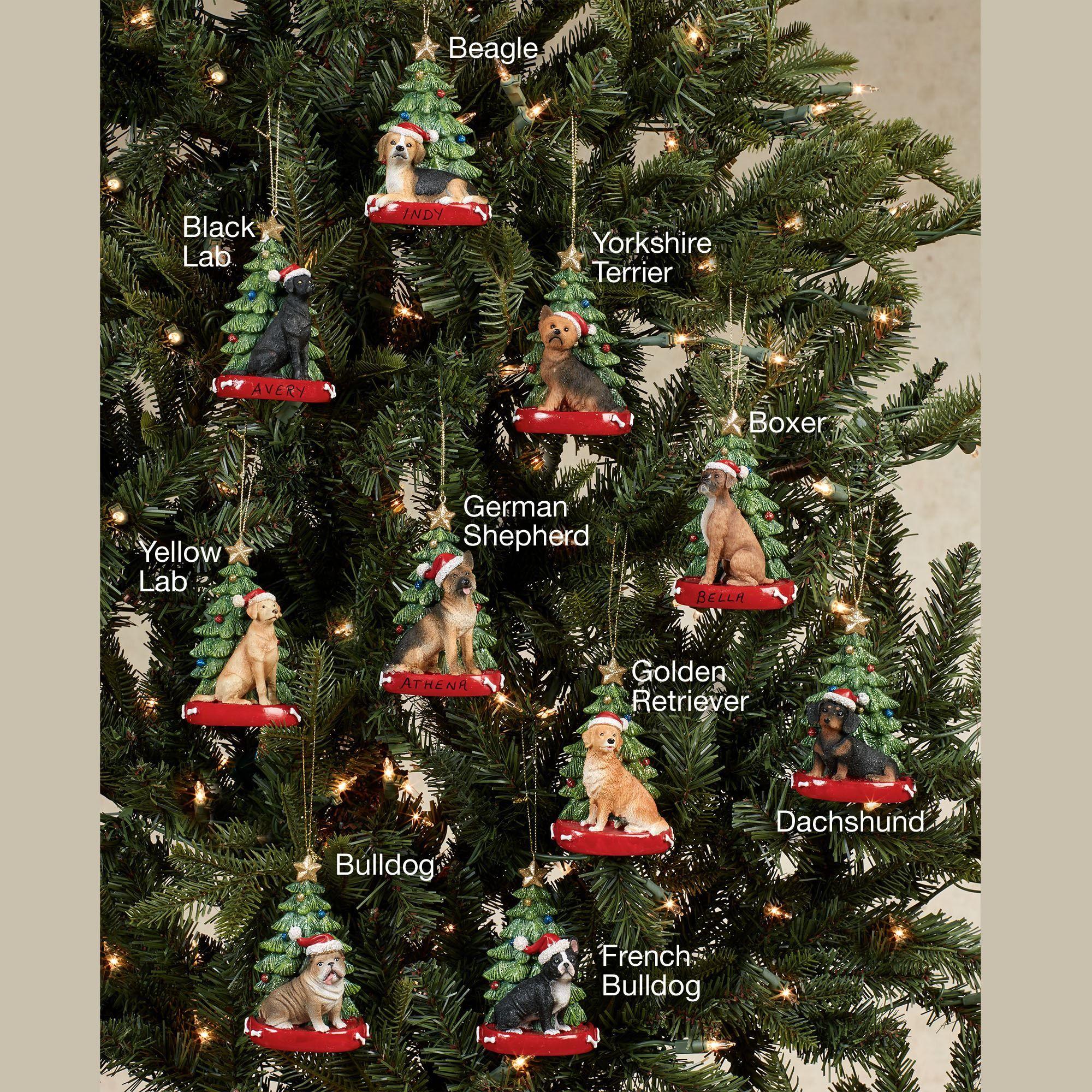 French Bulldog Christmas Ornament.Kurt Adler Christmas Dog Breed Personalized Tree Ornament