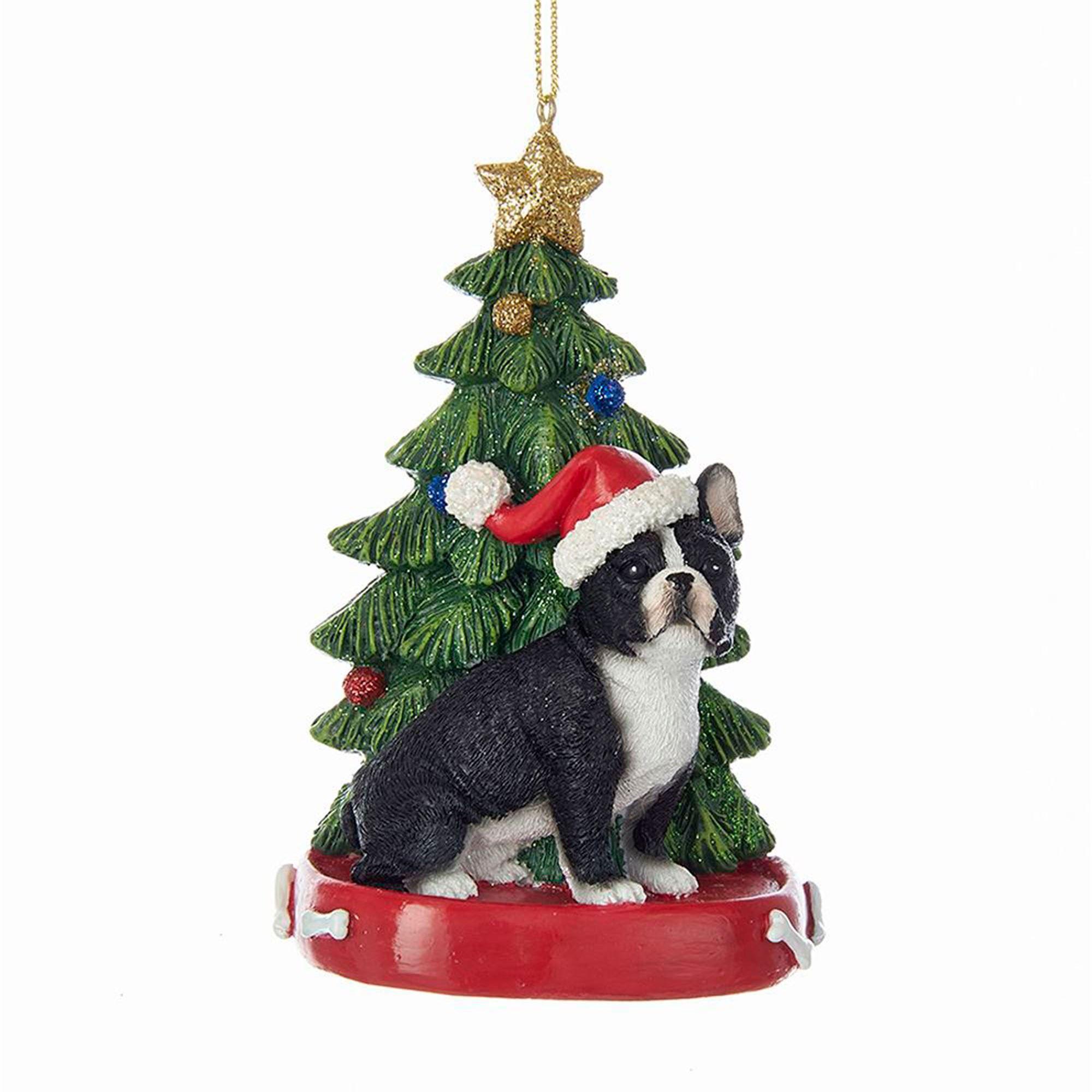 french bulldog christmas ornament multi warm
