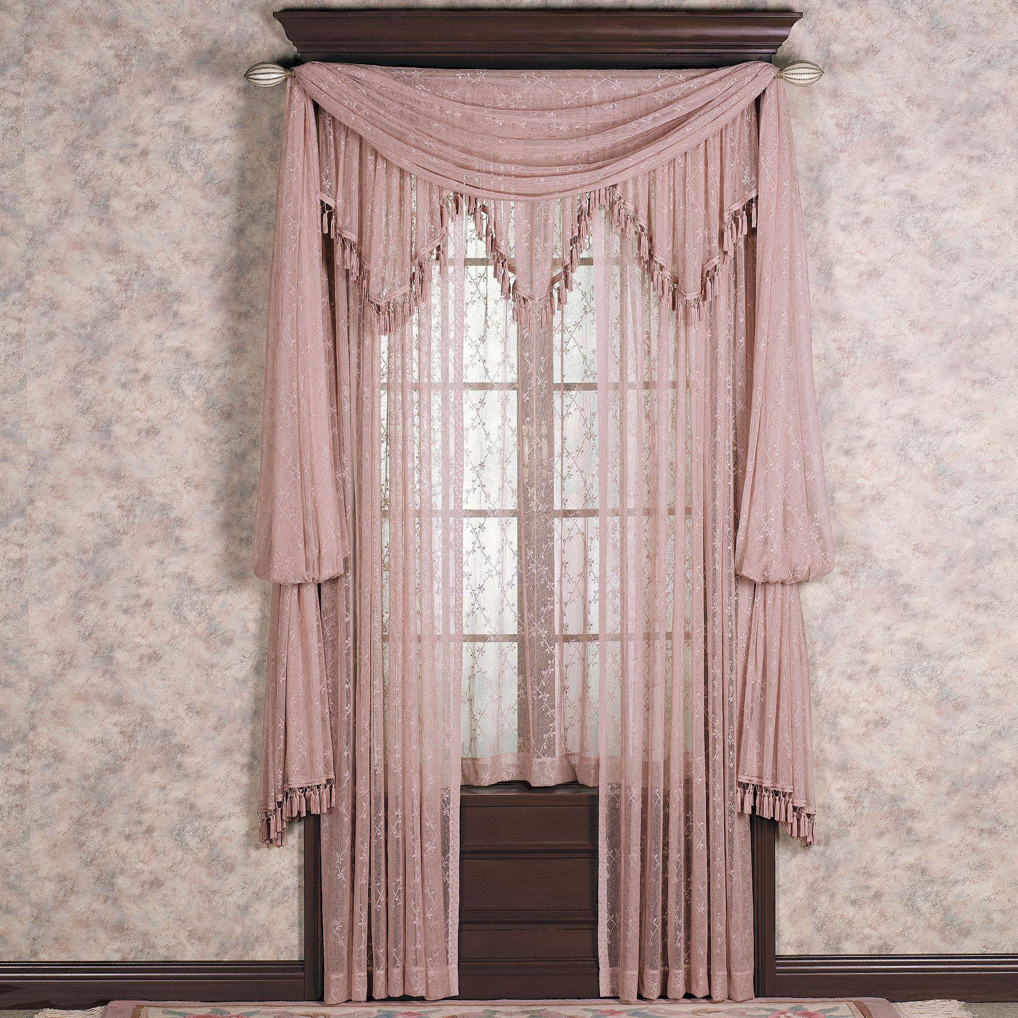 Lattice Lace Panels Window Treatment
