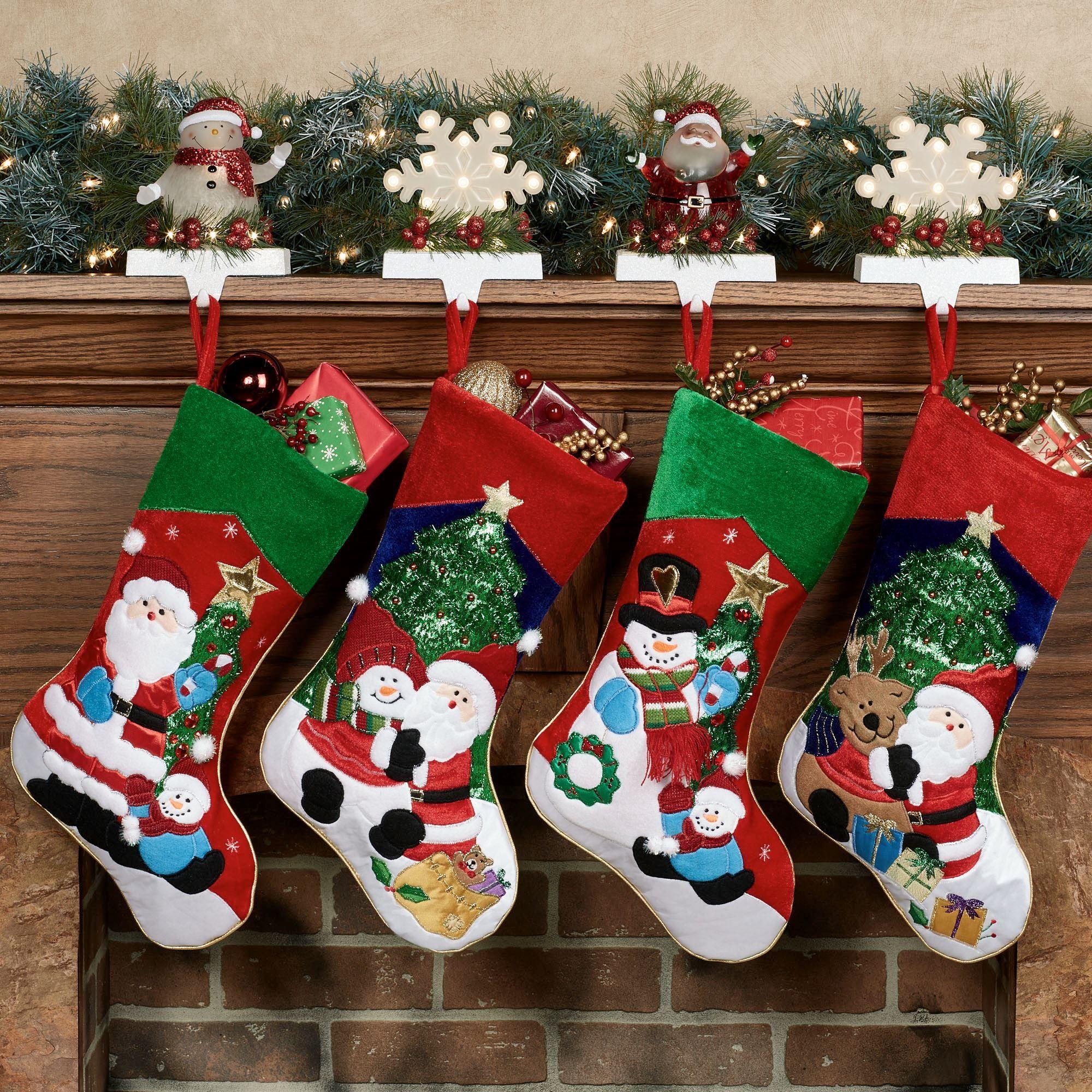 Kurt Adler Holiday Cheer Christmas Stocking Set of 4