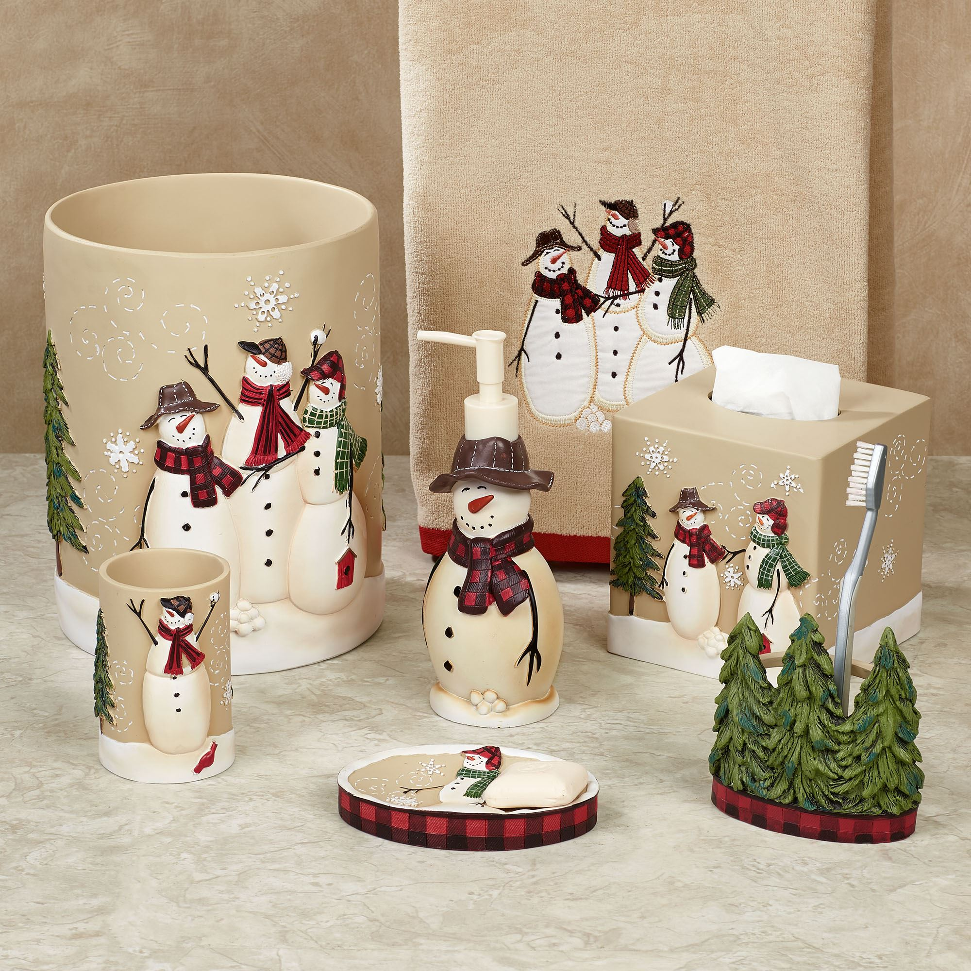 Christmas Bathroom Accessories