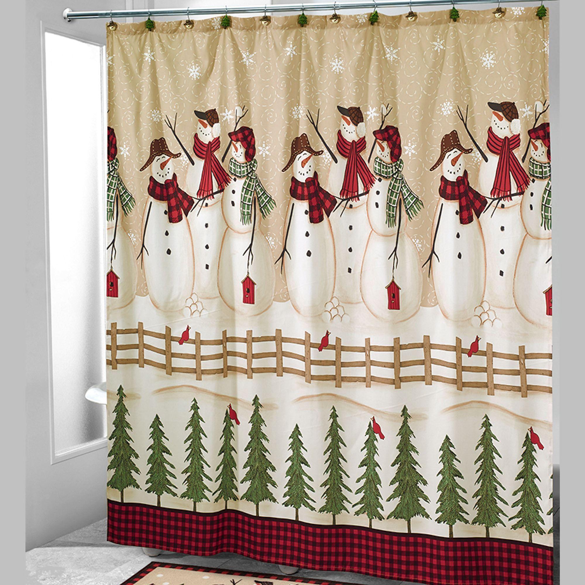 Linda Spivey Snowflake Shower Curtain Hooks
