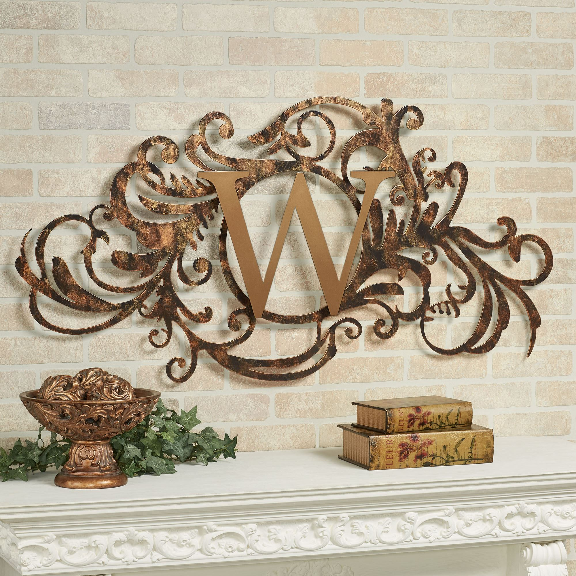 Monogram Metal Wall Art 001 - Monogram Metal Wall Art