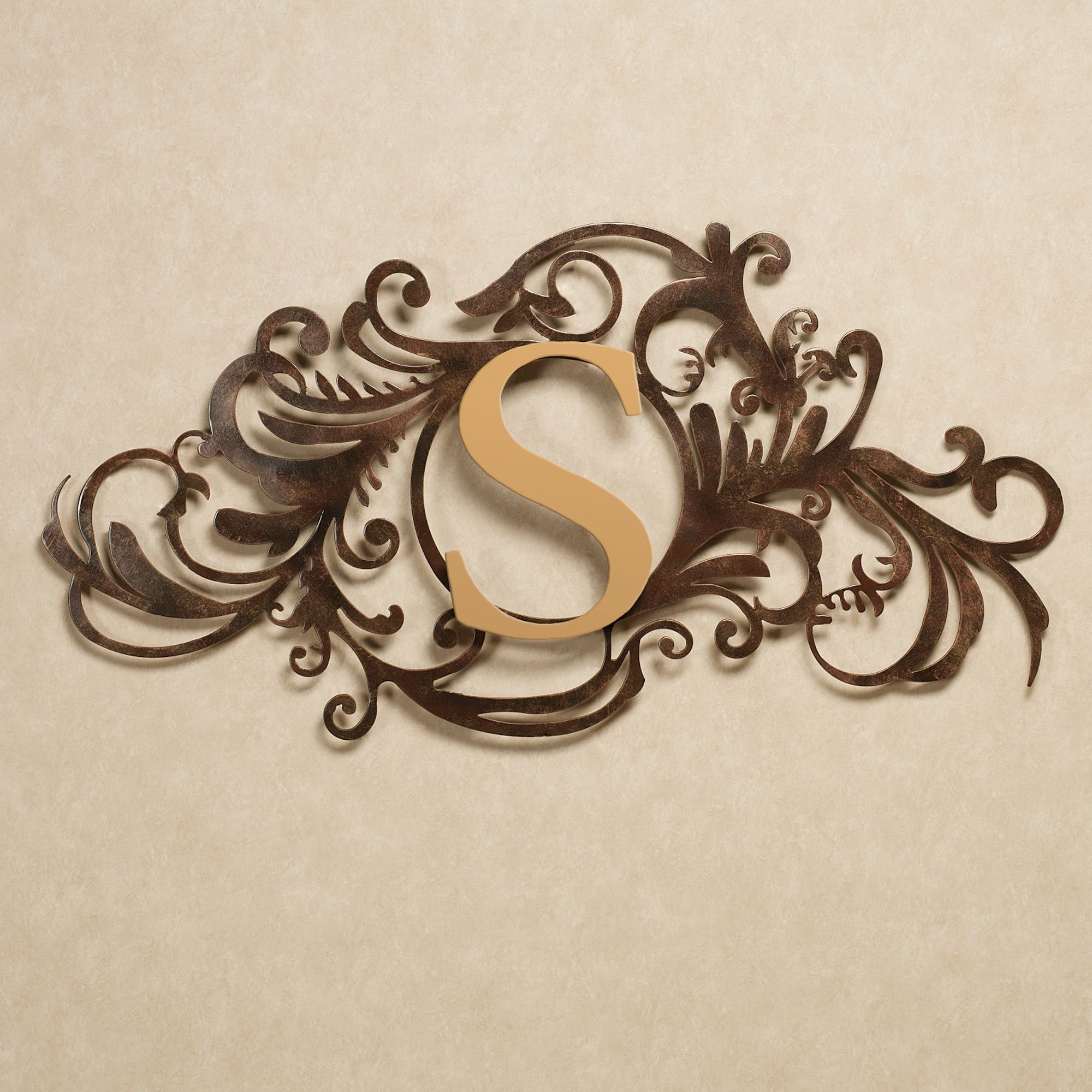 Indoor Outdoor Metal Wall Art Evanston Indoor Outdoor Monogram Metal Wall Art Sign