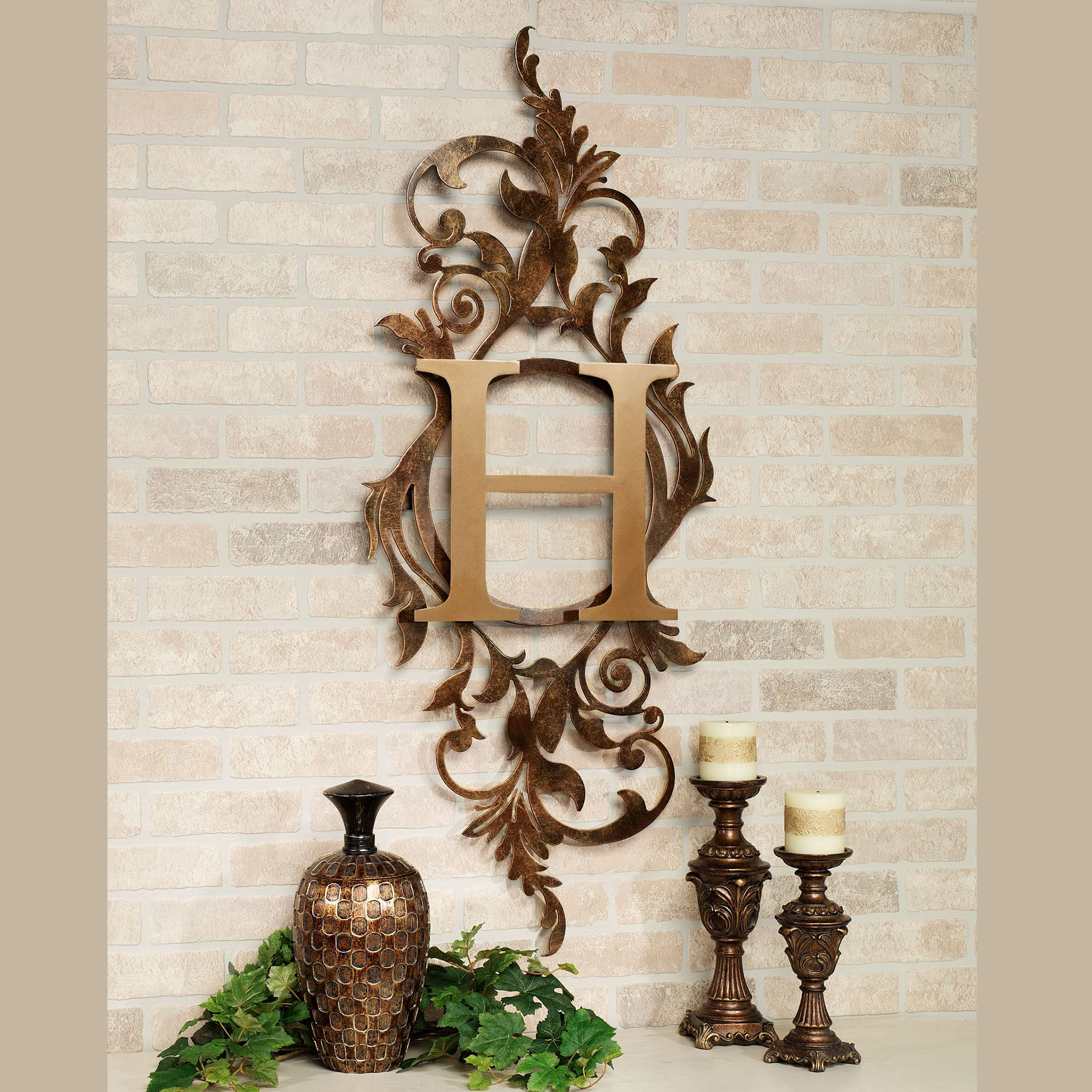 Vertical Metal Wall Art Meglynn Monogram Vertical Metal Wall Art Sign
