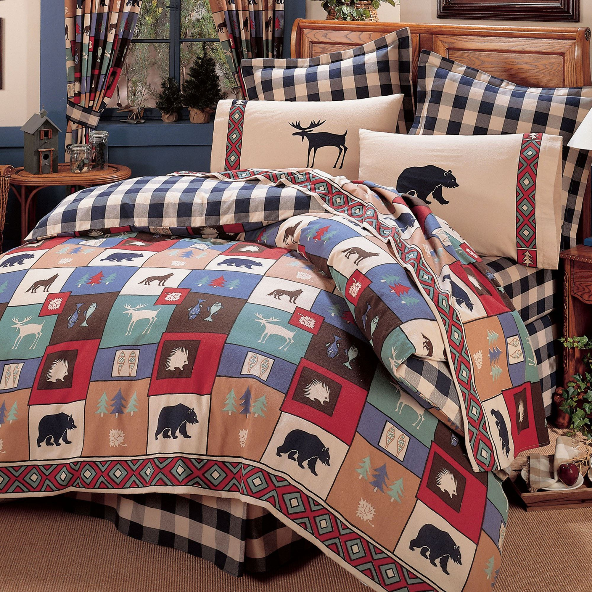 with comforter house bedding rustic lodge sets cabin
