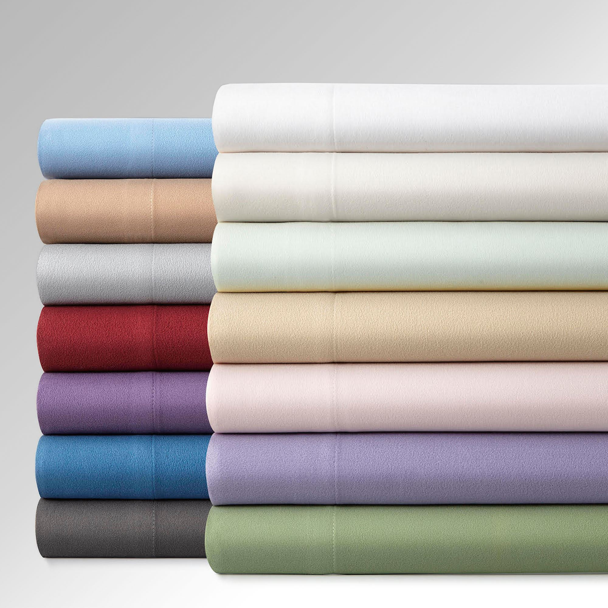 140 Gsm Micro Flannel R Solid Color Sheet Set