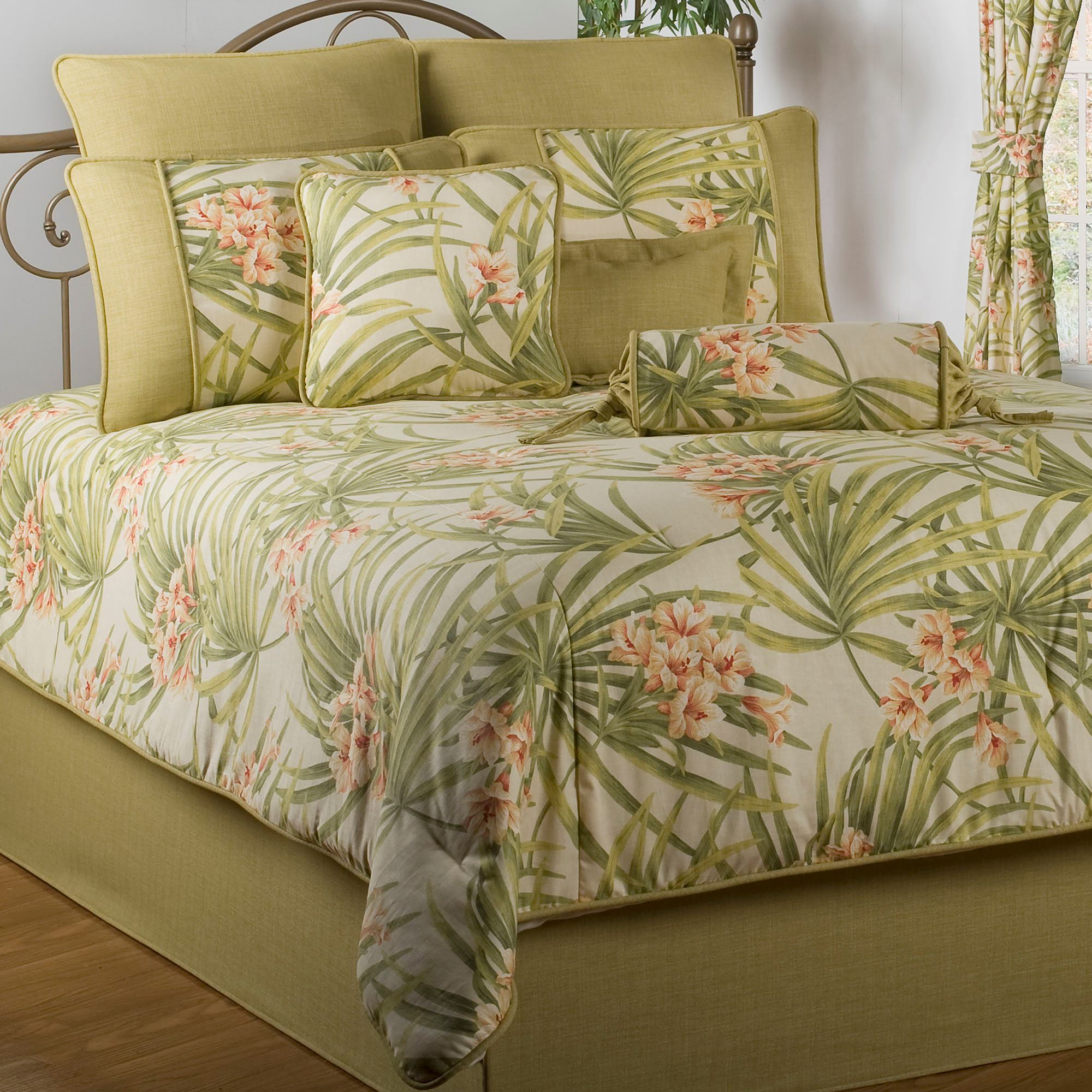 Sea island tropical comforter bedding - Bedroom sheets and comforter sets ...