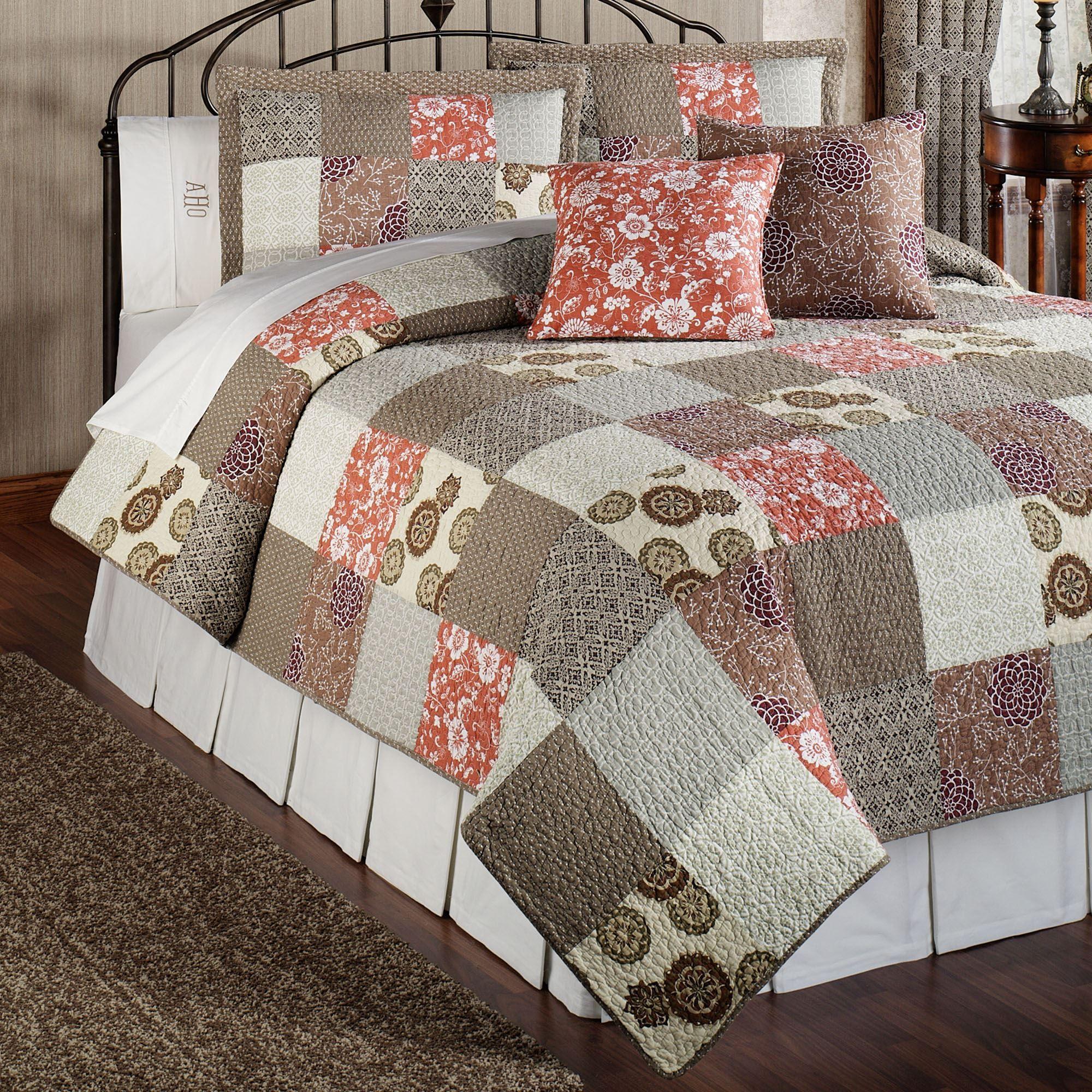Stella Cotton Patchwork Twin Quilt Bed Set