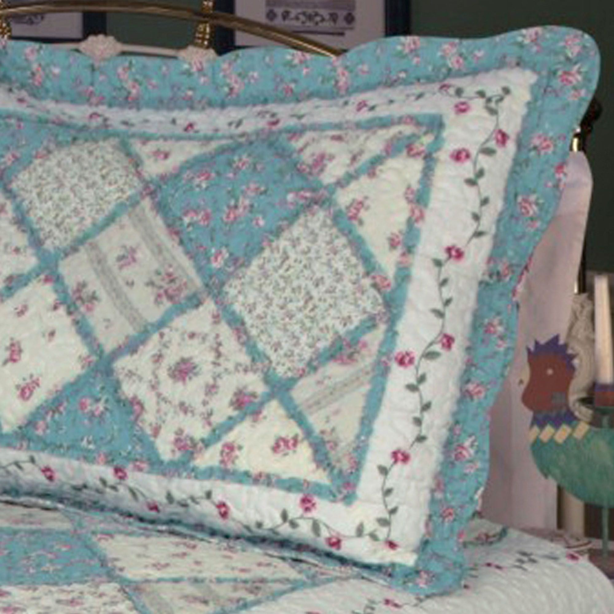 cotton queen dada quilt real set turquoise bedding home dp bedspread fairy print com forest kitchen glade patchwork floral amazon pieces