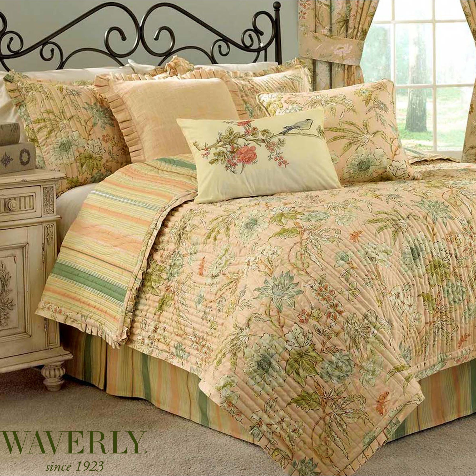 Cape Coral Floral Quilt Set By Waverly