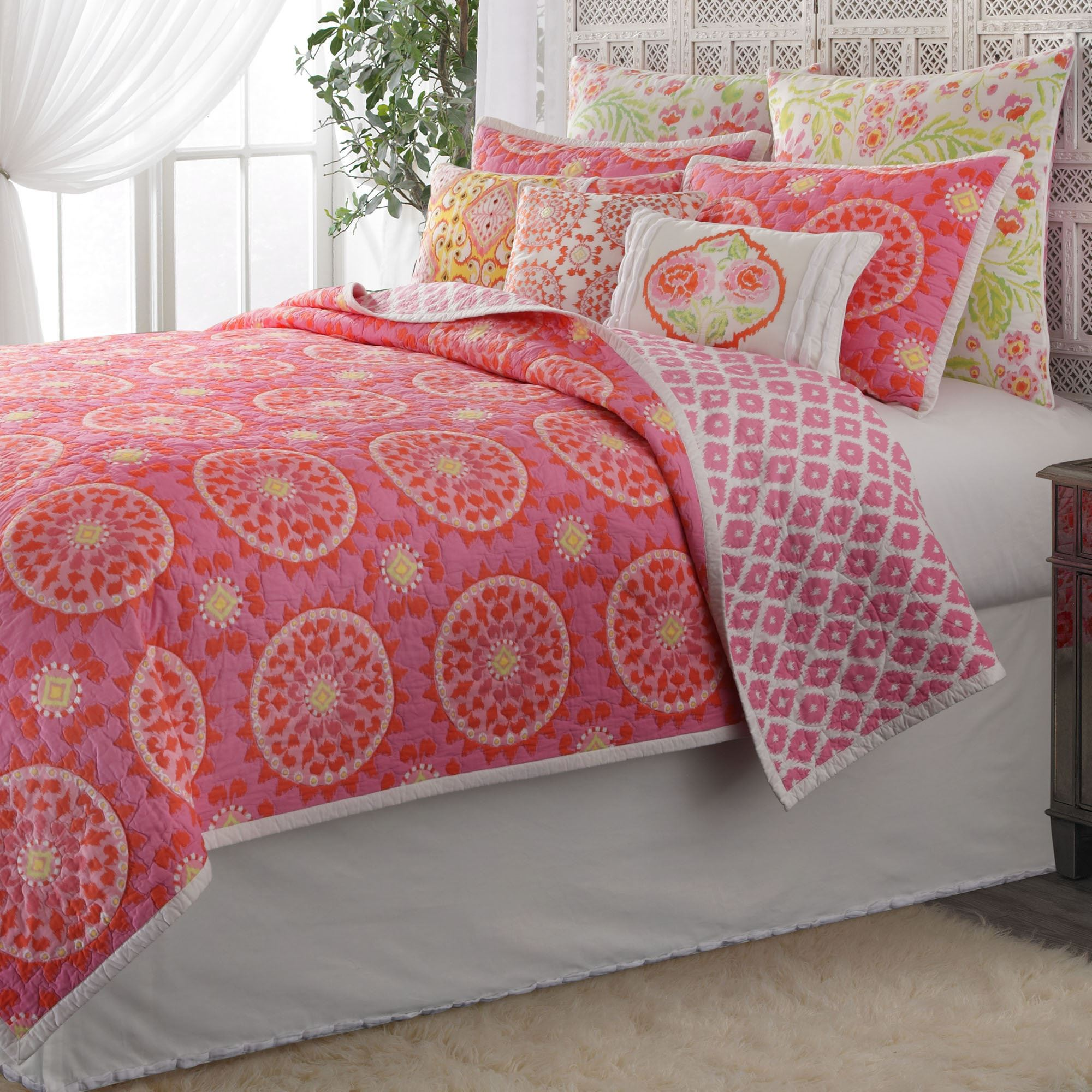 Dream Nest Cotton Quilt Rose Pink. Click To Expand