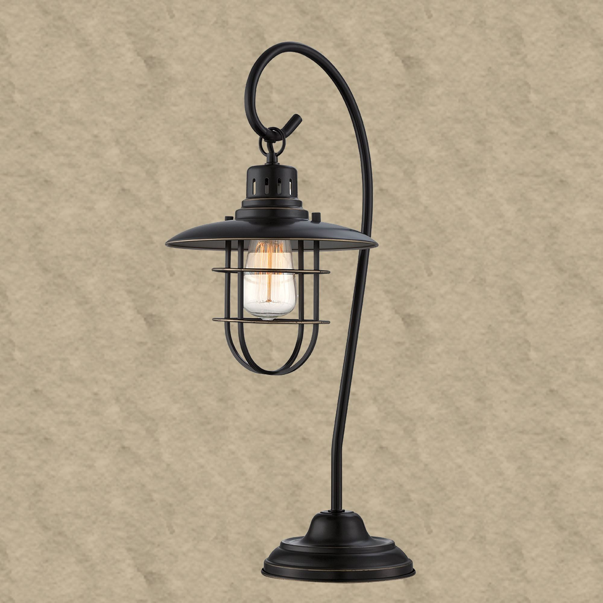 Digby lantern style metal table lamp touch to zoom aloadofball Gallery