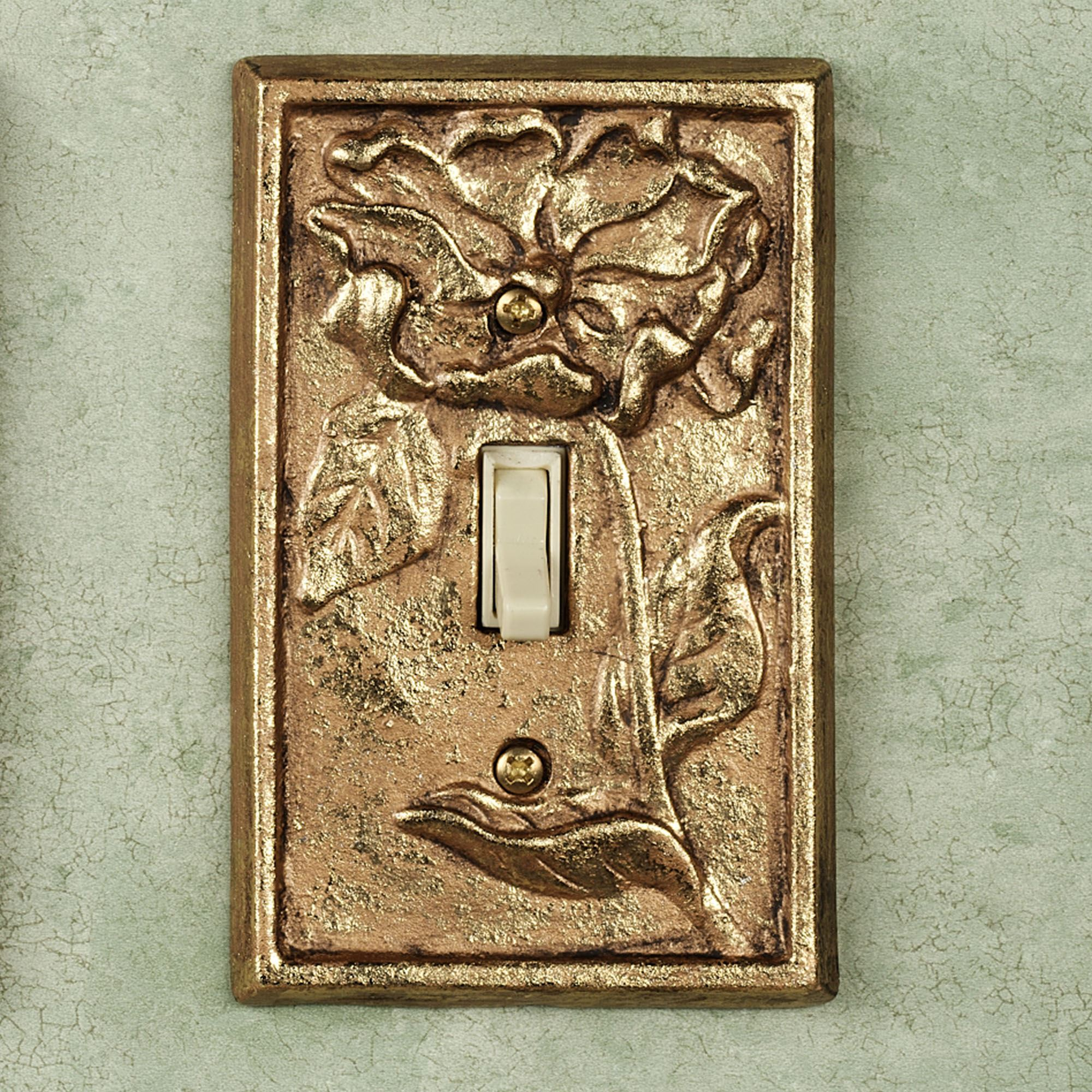 Decorative Light Switch Plates Prepossessing Michelia Brass Switchplates Inspiration Design