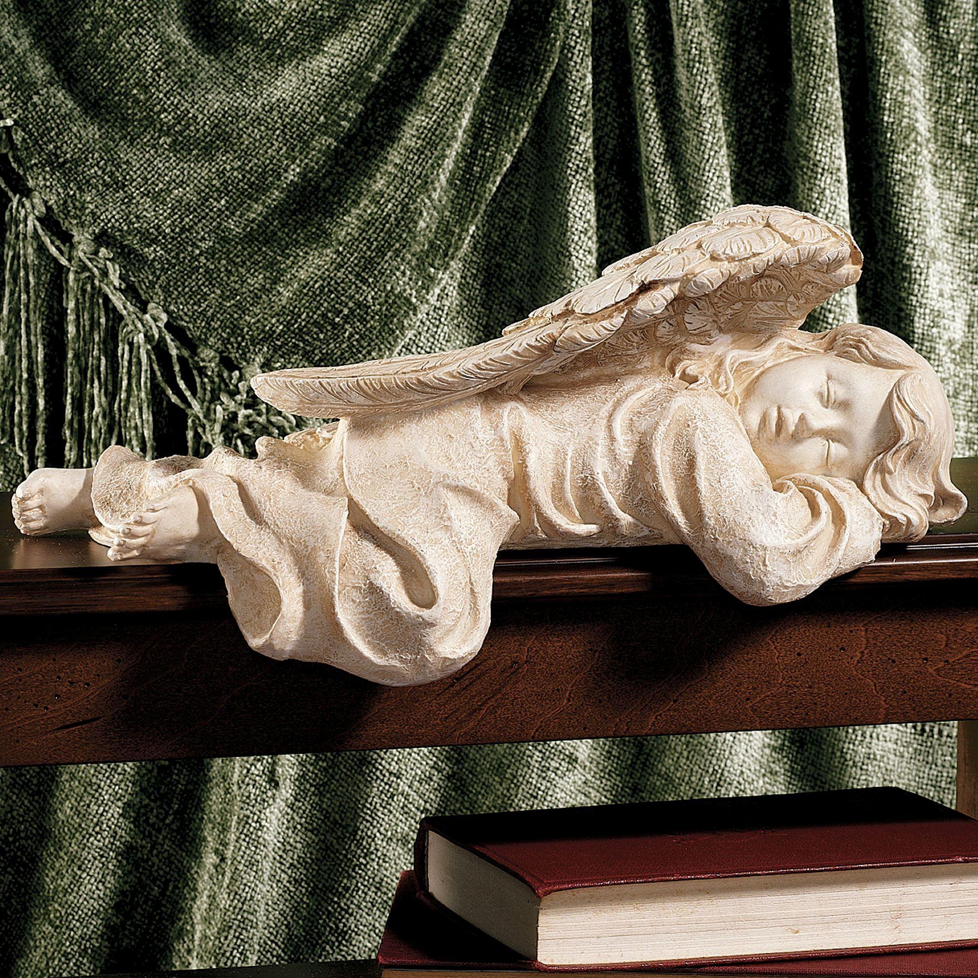 Cute Beautiful Mermaid Resin Figurine Ornament 3D Sleeping Beauty Statue