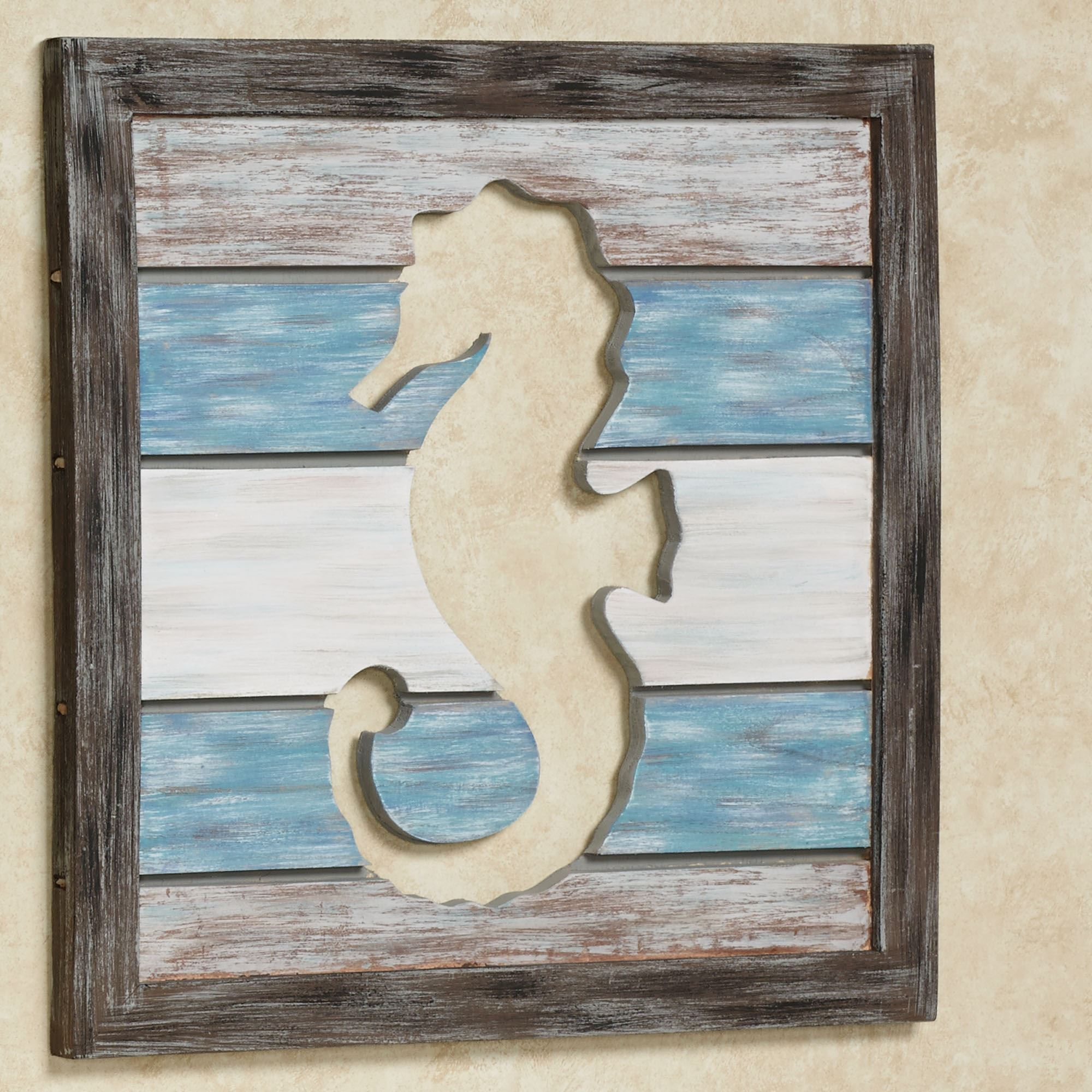 Sealife Cutout Slat Indoor Outdoor Coastal Wall Art
