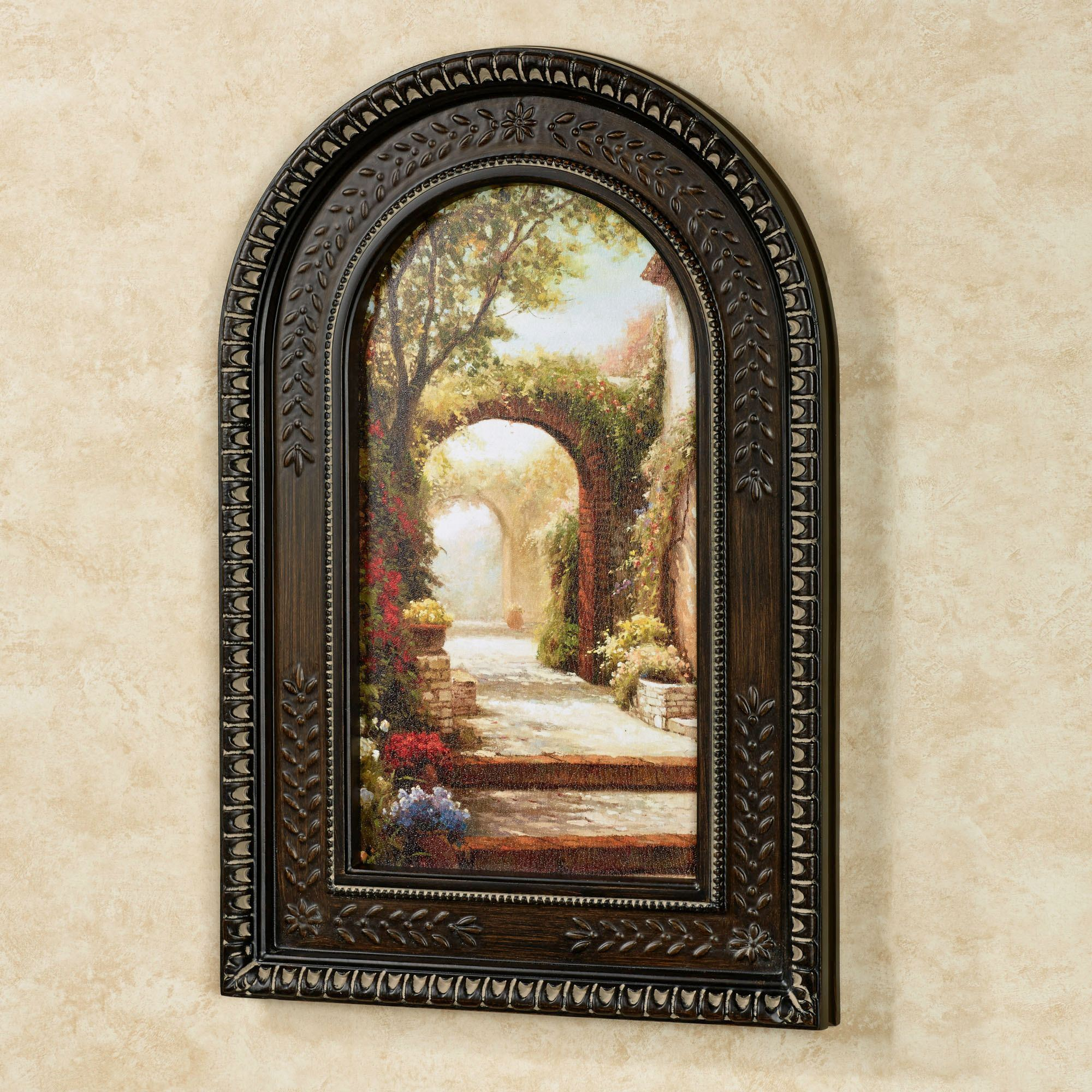 Tuscan Wall Decor Pomeriggio Arched Framed Wall Art