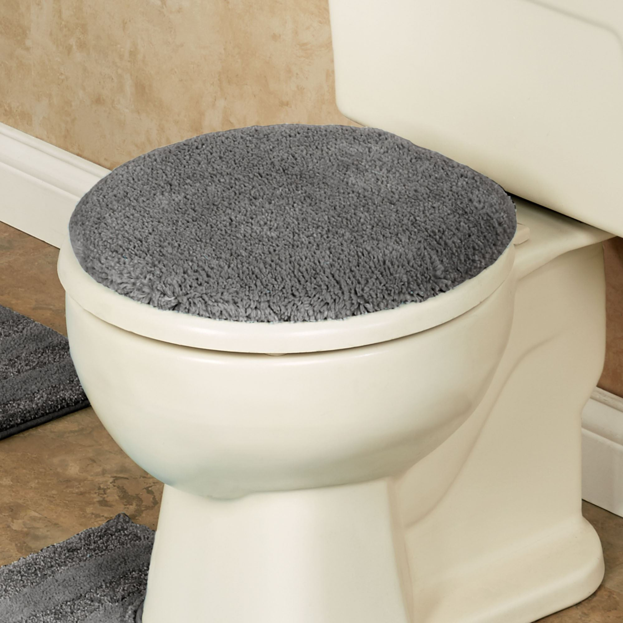 Phenomenal Comforel Toilet Lid Covers Or Striped Bath Rugs Ibusinesslaw Wood Chair Design Ideas Ibusinesslaworg
