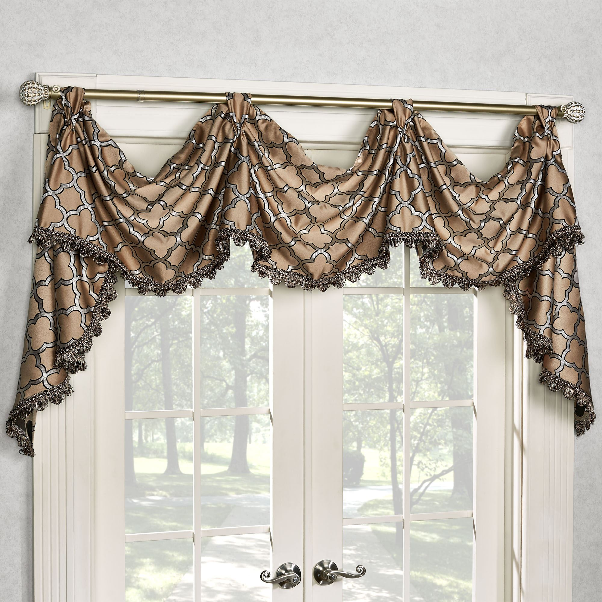Fandangle Quatrefoil Tab Top Victory Valance
