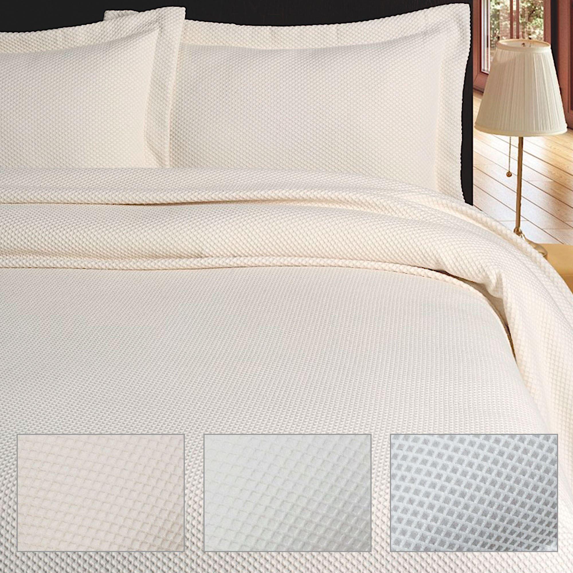 Soft Diamond Woven Matelasse Coverlet Bedding By Belle Epoque