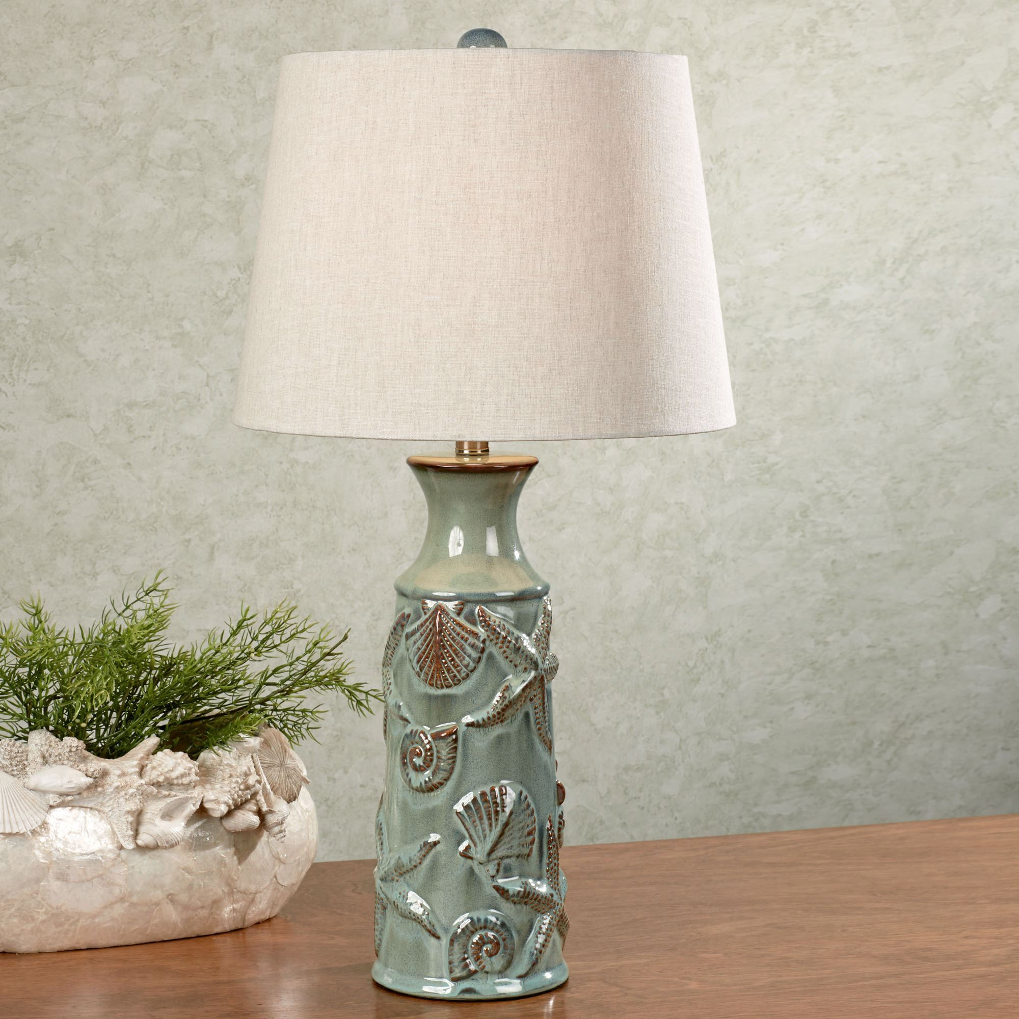 Asteroidea ceramic coastal table lamp asteroidea table lamp seafoam click to expand mozeypictures Image collections