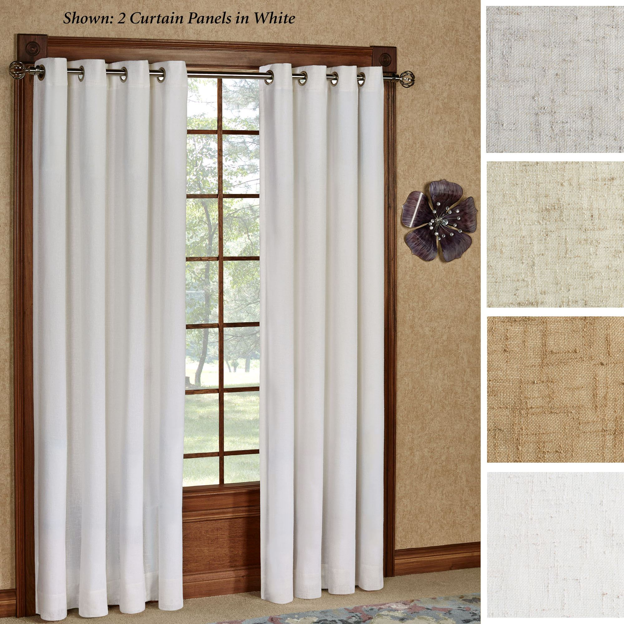 New castle textured grommet curtain panels for Grommet curtains
