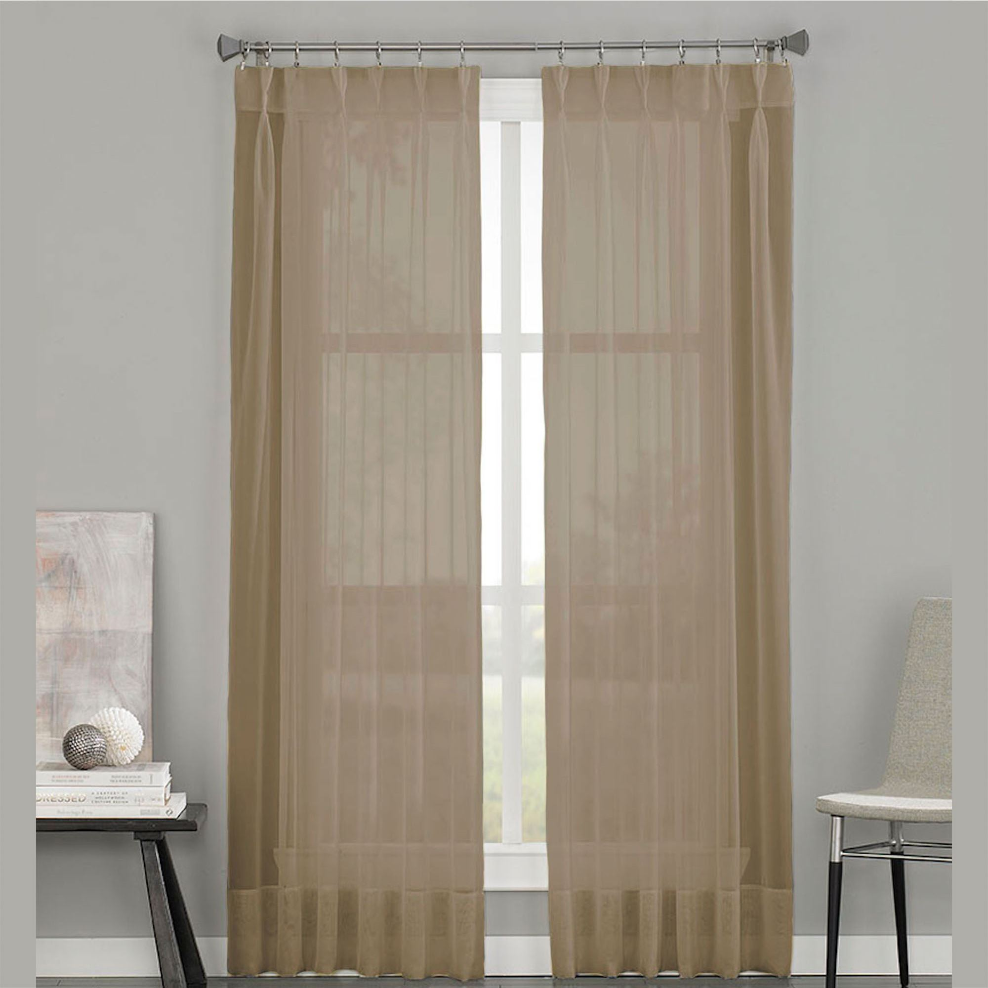 Soho Sheer Voile Pinch Pleat Curtain Panels