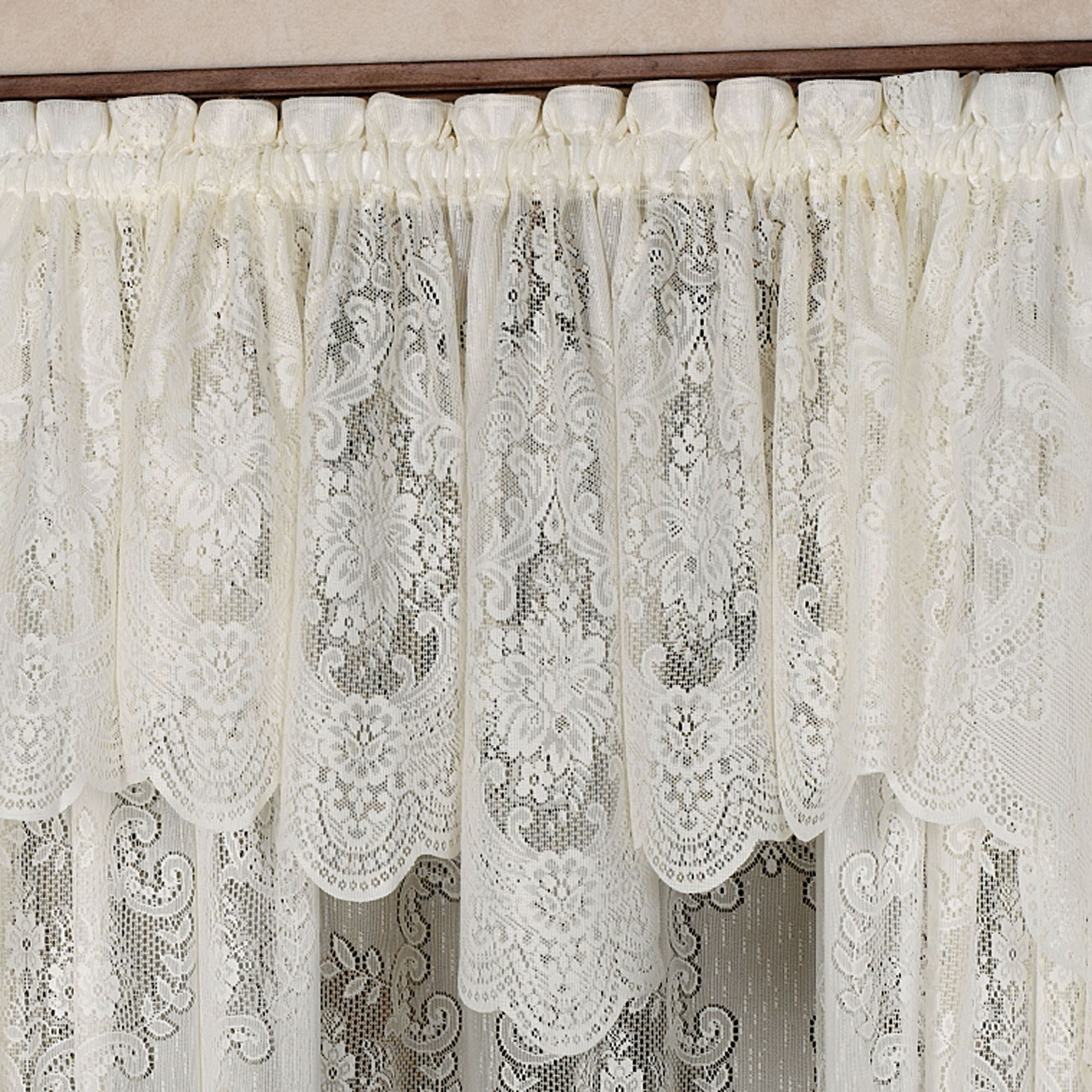 panels with curtains lace decorative valance projects stitching window
