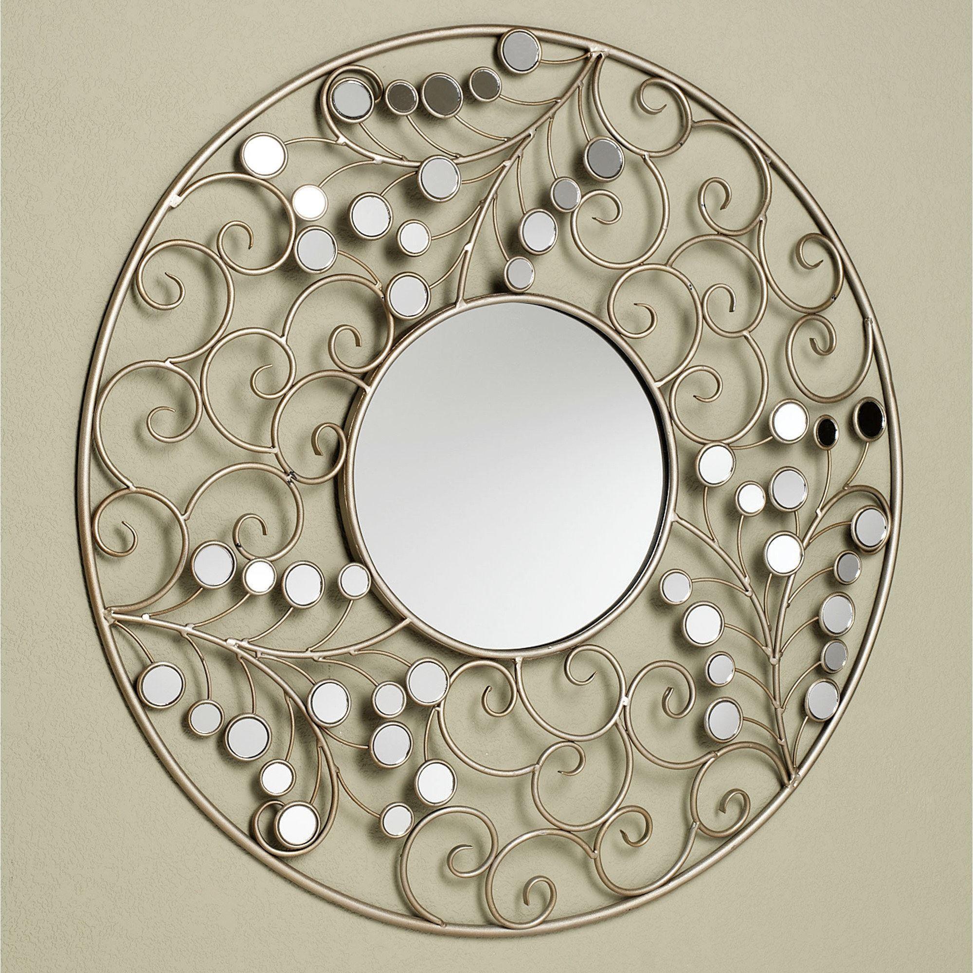 Alyssia Round Metal Wall Mirror