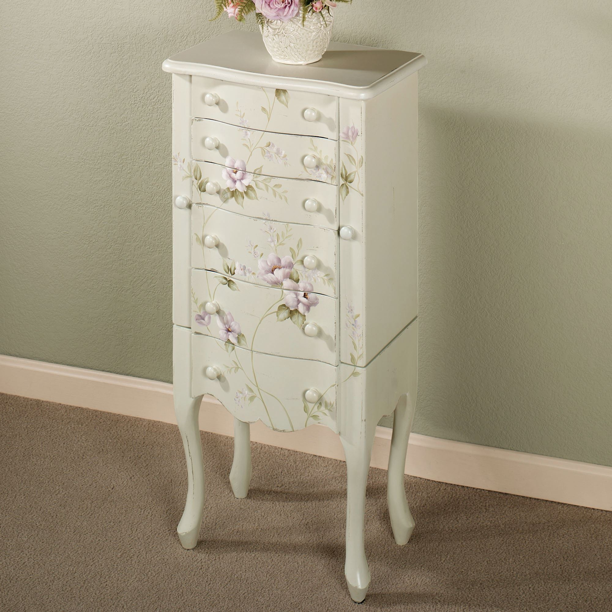 colette floral jewelry armoire
