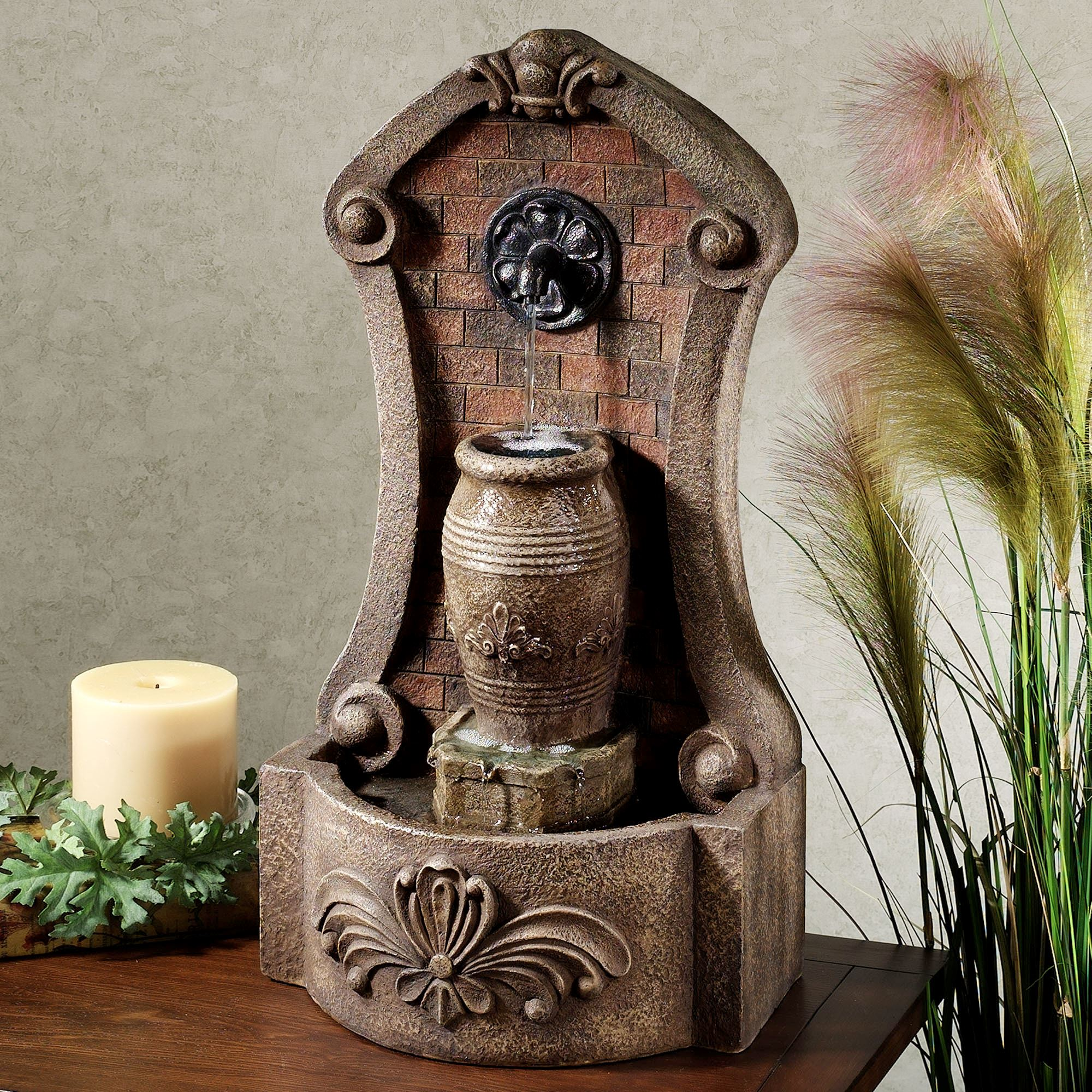 Artesia Indoor Outdoor Tabletop Water Fountain Multi Earth Touch To Zoom