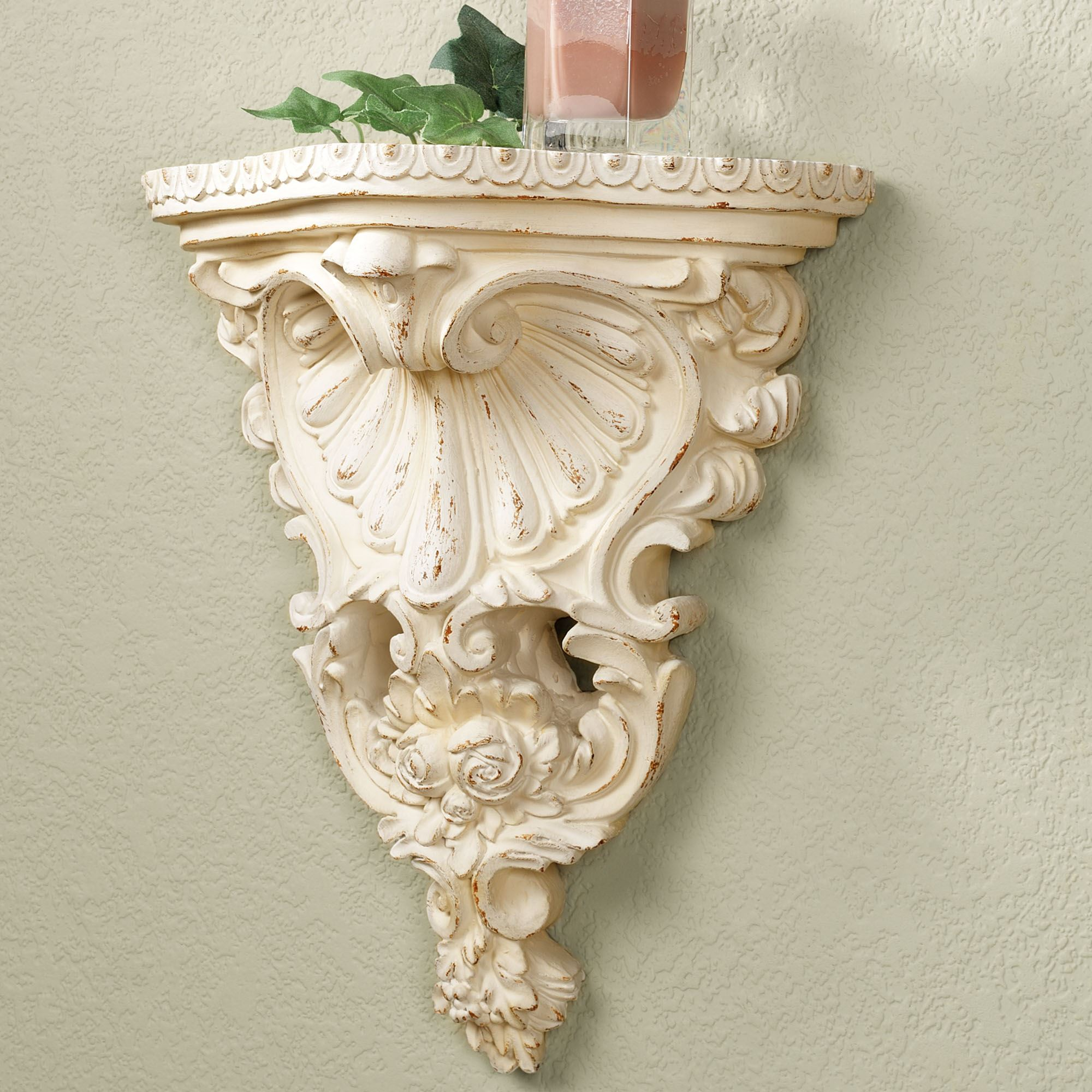 Mersey Off White Acanthus Wall Shelf