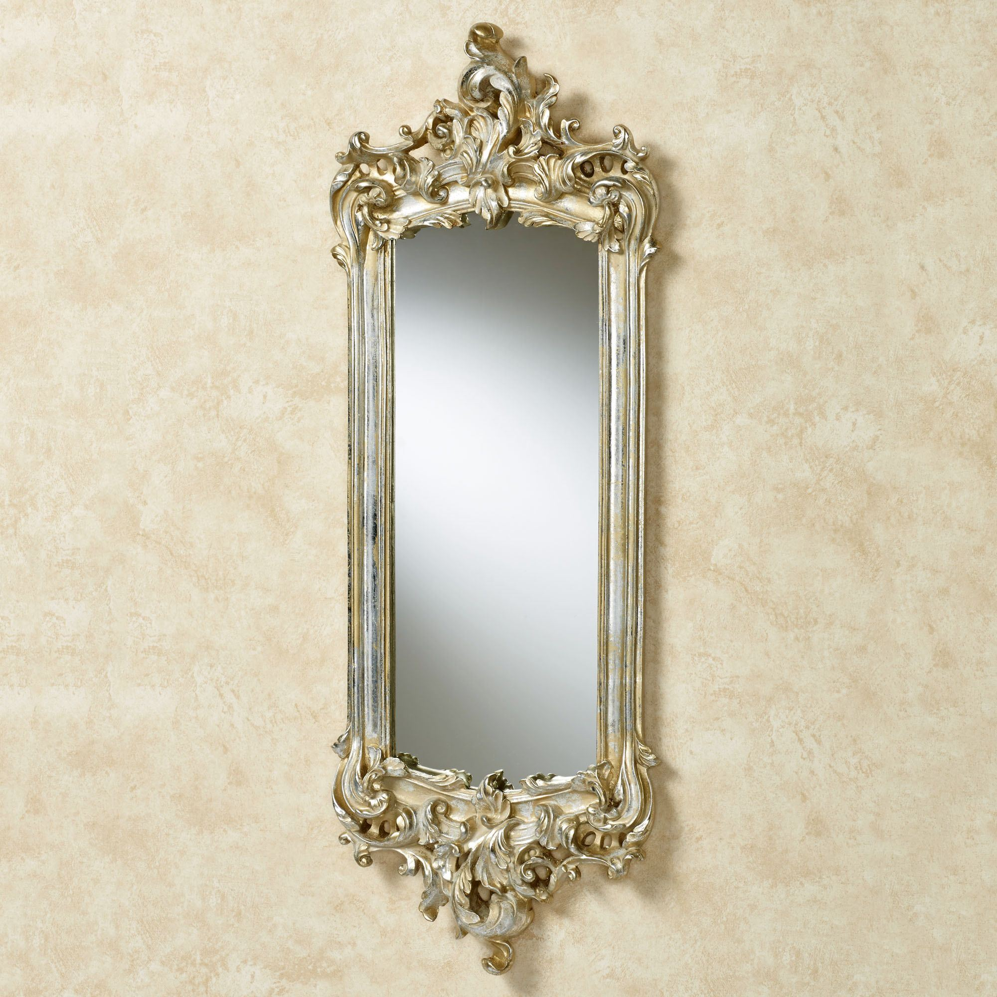 Lela silver gold acanthus wall mirror click to expand amipublicfo Gallery
